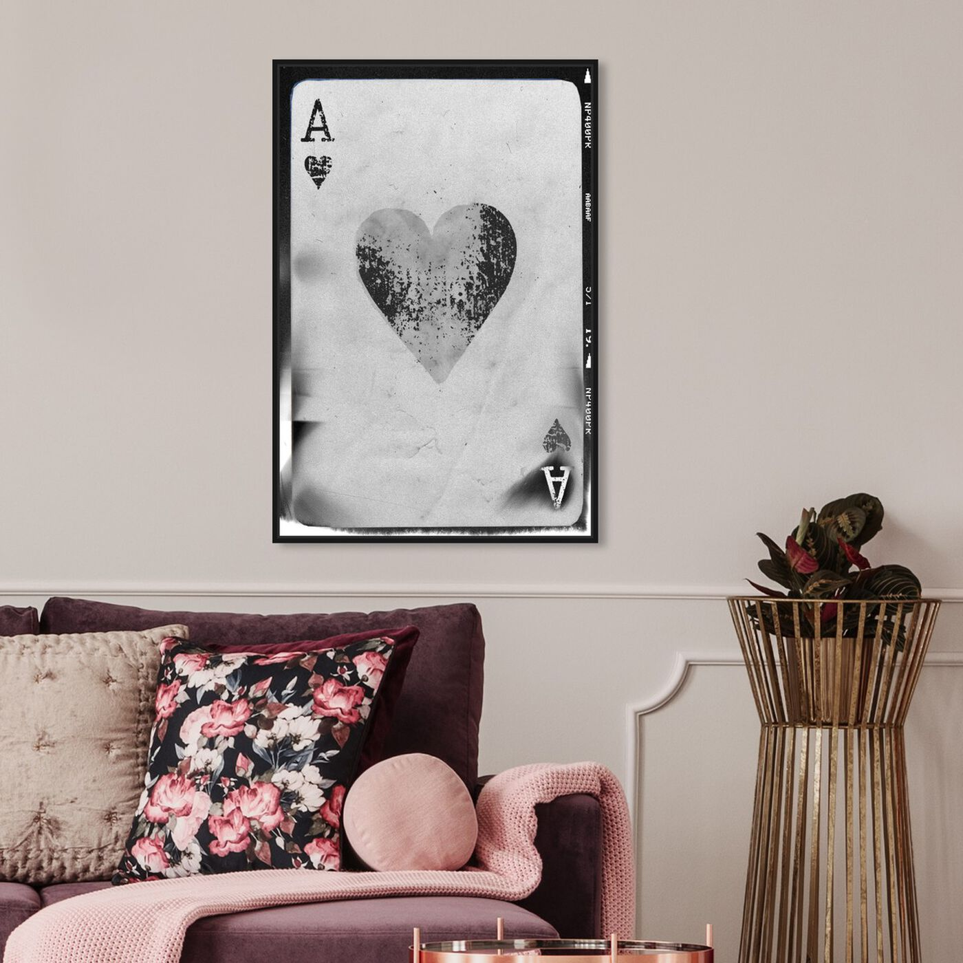 Hanging view of Ace of Hearts Reversed featuring entertainment and hobbies and poker art.