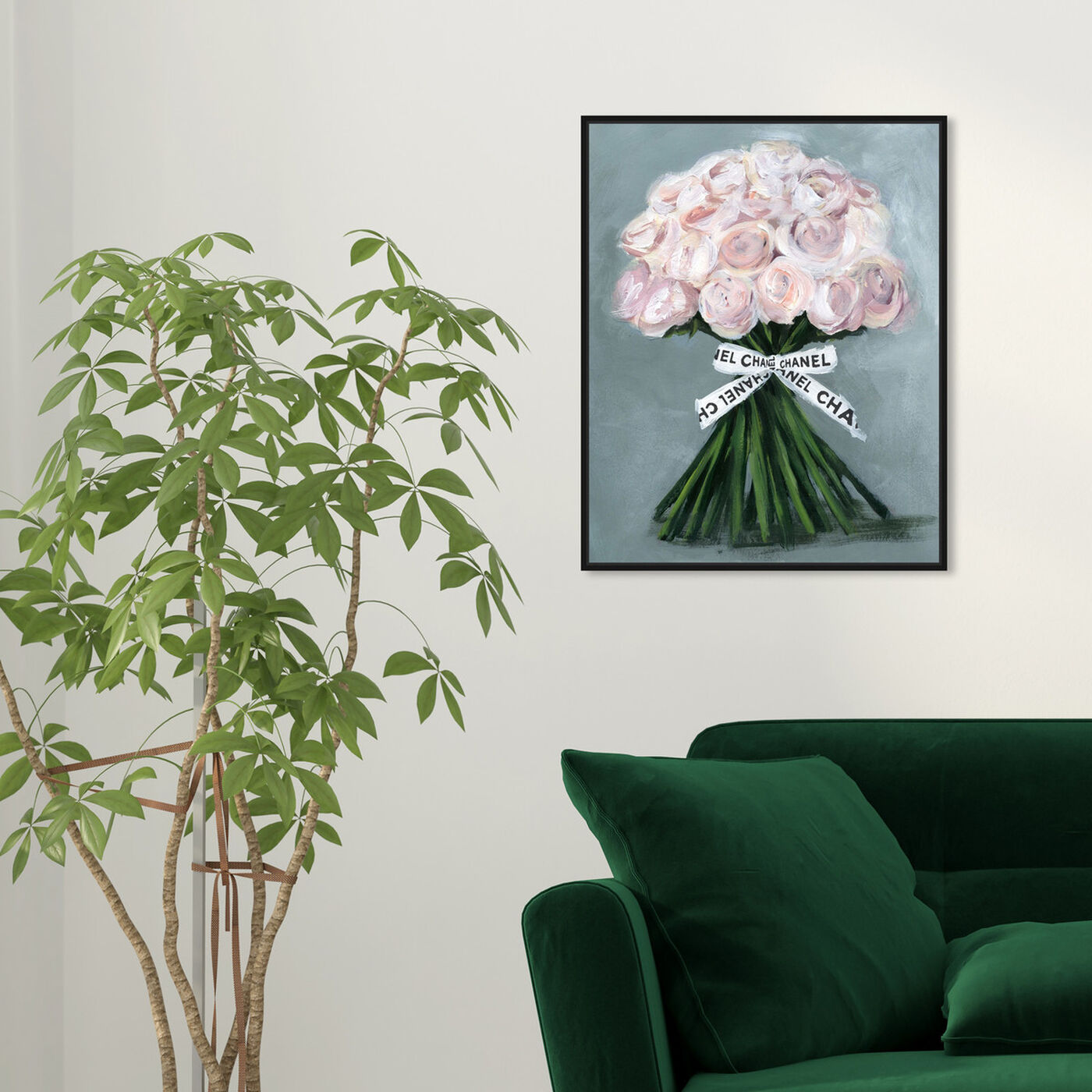 Hanging view of The Perfect Bouquet featuring floral and botanical and florals art.