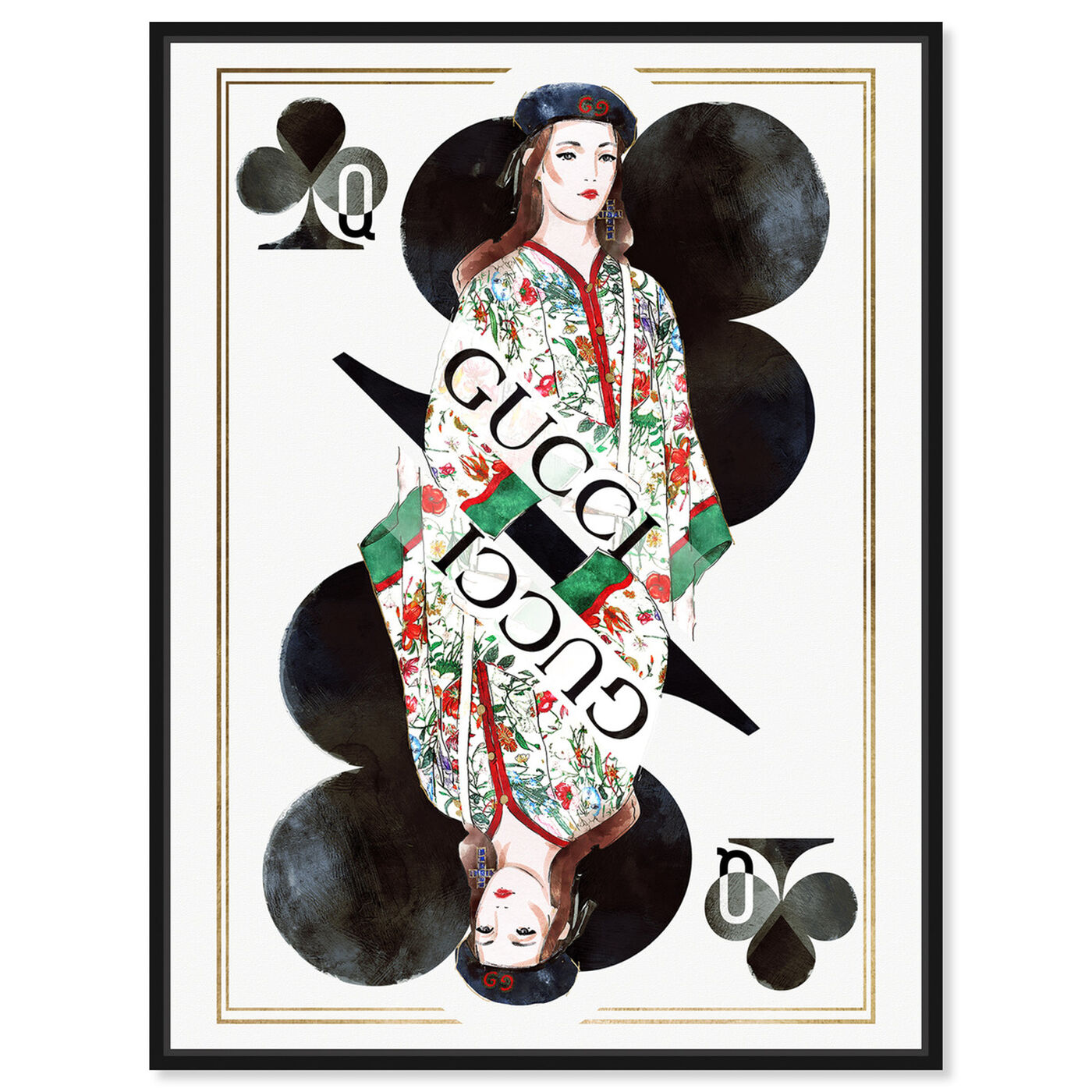Front view of Queen of Clovers Charm featuring fashion and glam and outfits art.