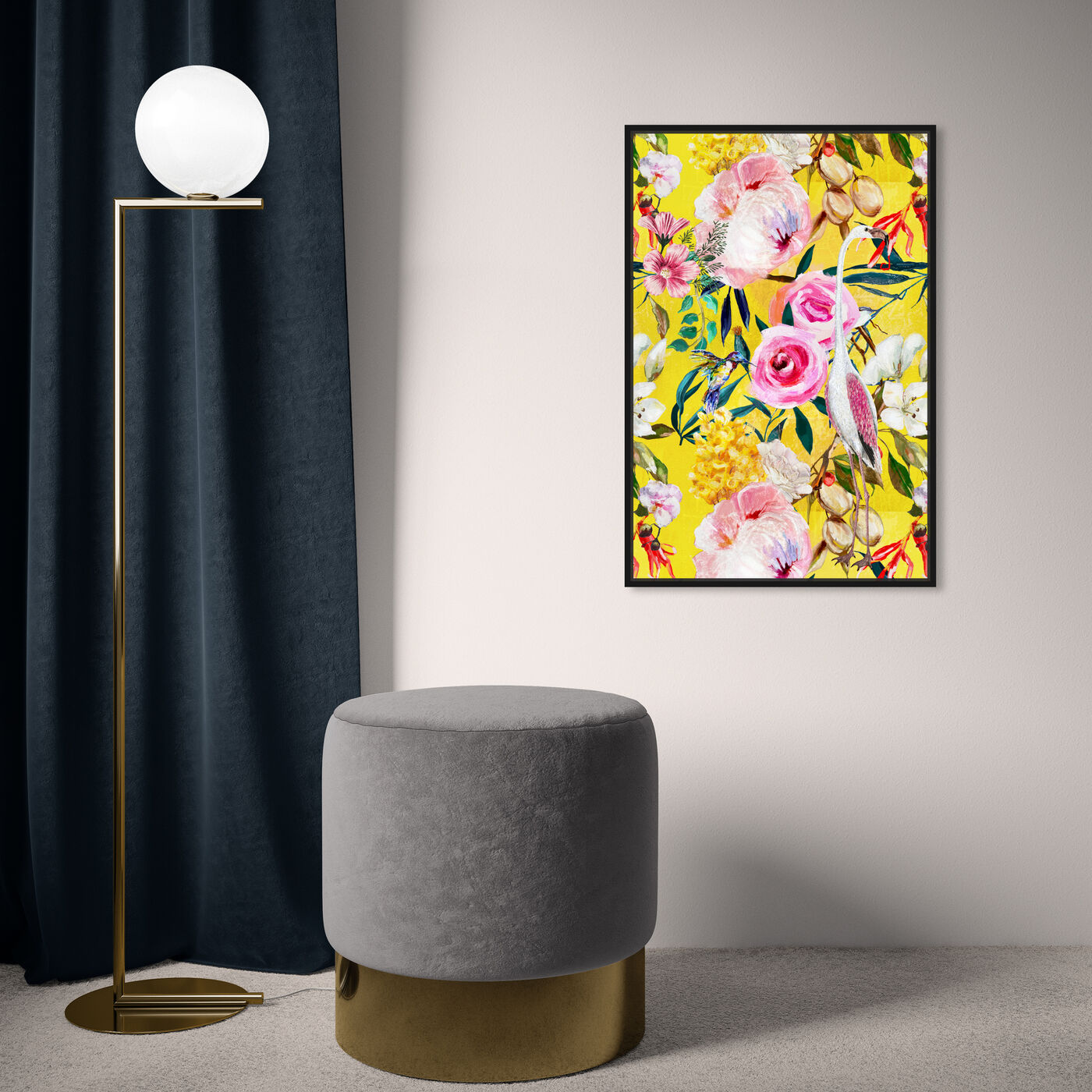 Hanging view of Le Tropic featuring floral and botanical and florals art.