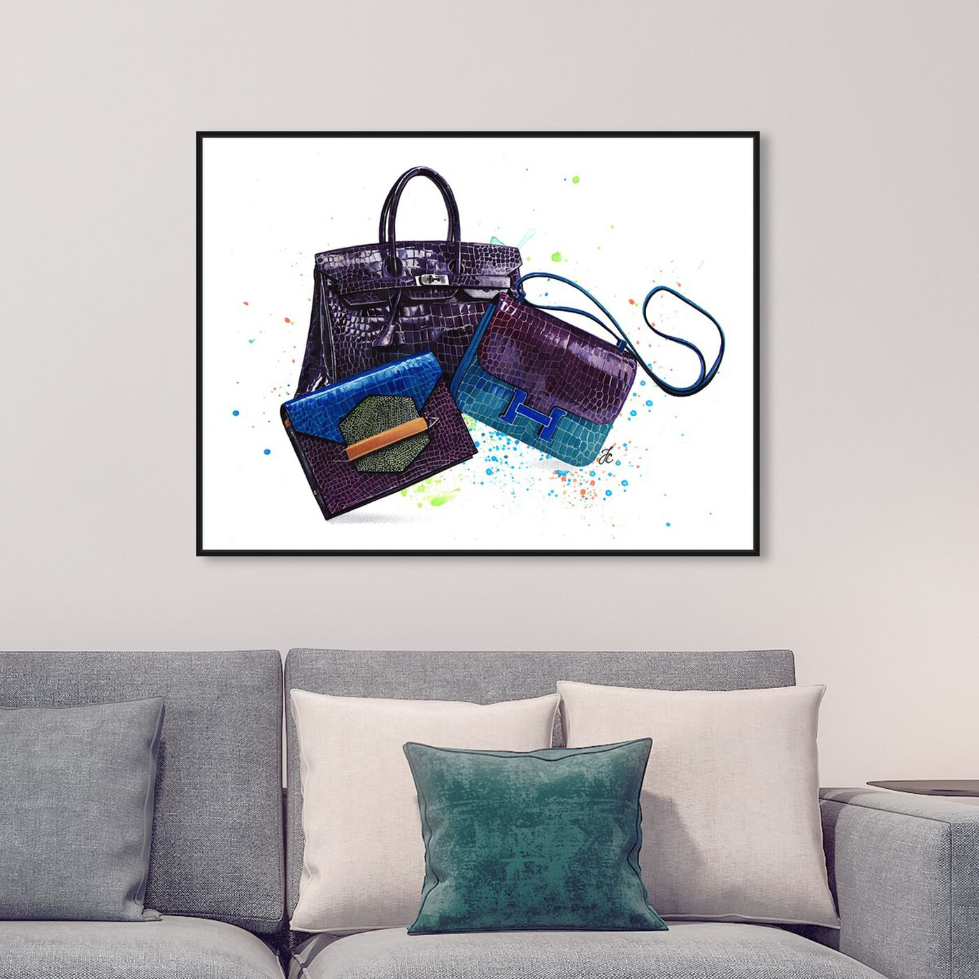 Hanging view of Doll Memories - Ultraviolet Closet featuring fashion and glam and handbags art.