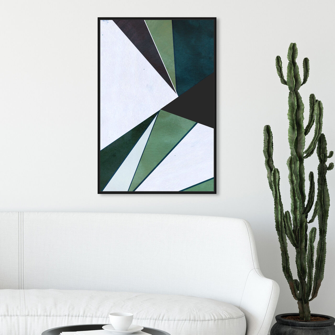 Hanging view of Opium Duo featuring abstract and geometric art.