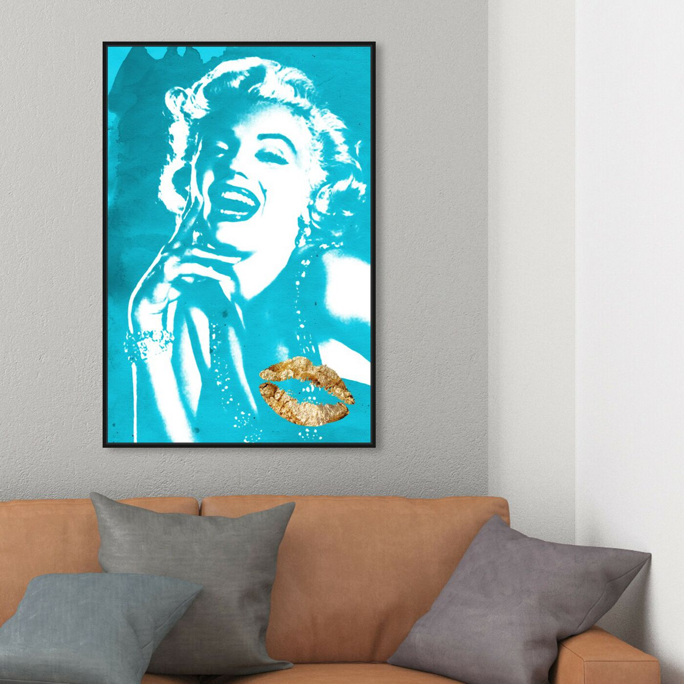Hanging view of Iconic Blonde Kiss featuring fashion and glam and lips art.