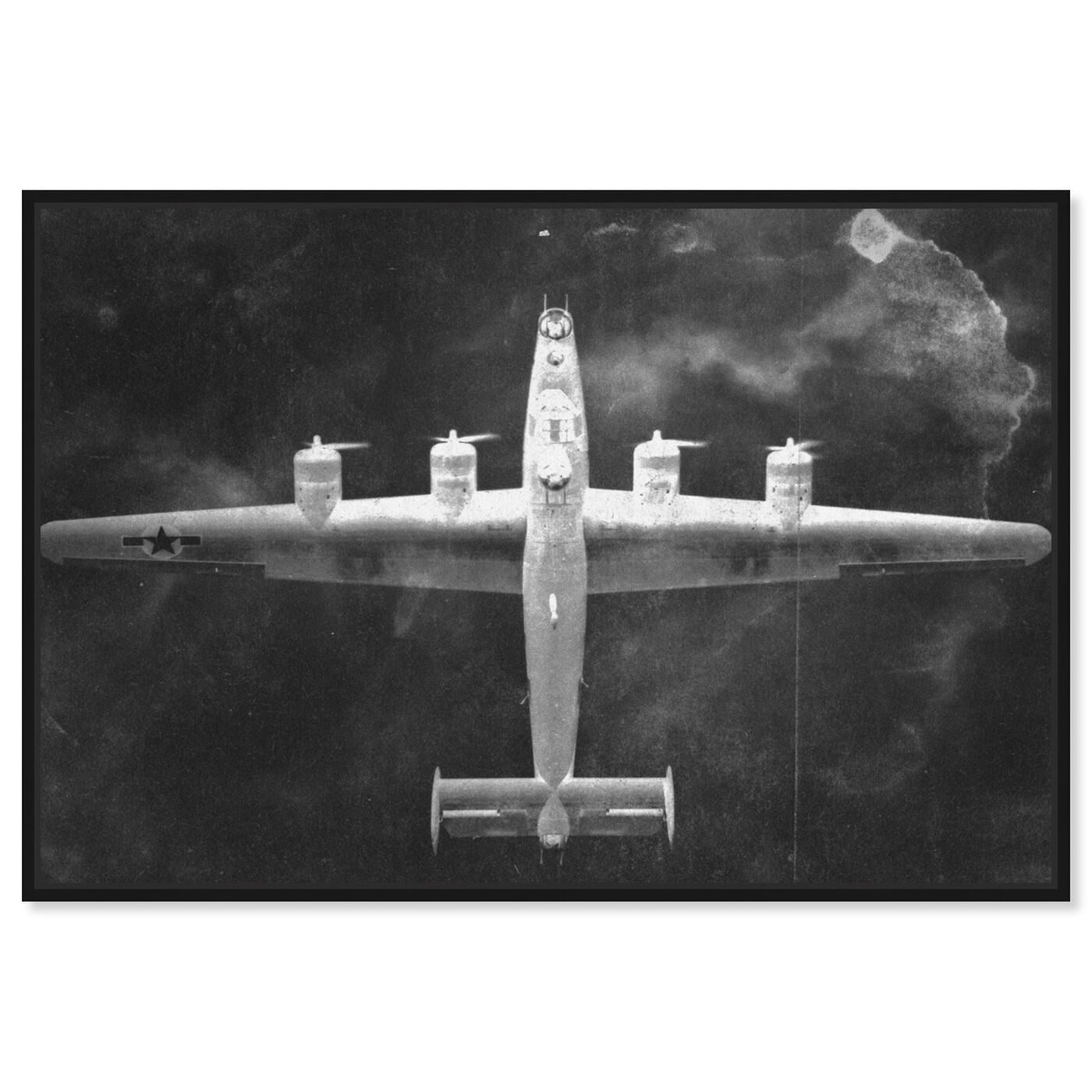 Front view of Aircraft Inverted featuring transportation and airplanes art.