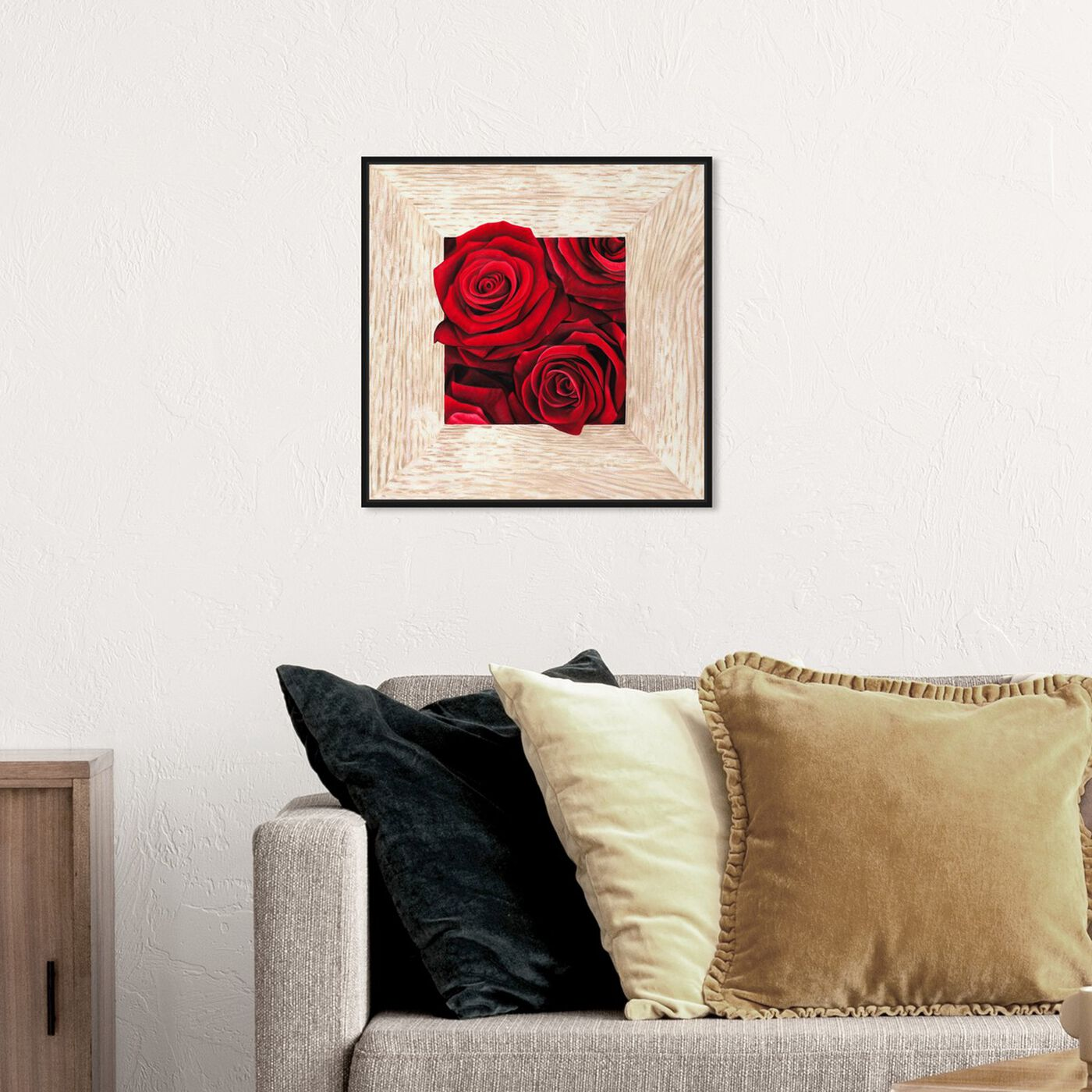 Hanging view of SAI - Crescit Lilium featuring floral and botanical and florals art.