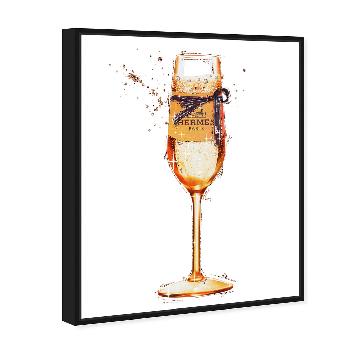 Angled view of The Orange Toast featuring drinks and spirits and champagne art.