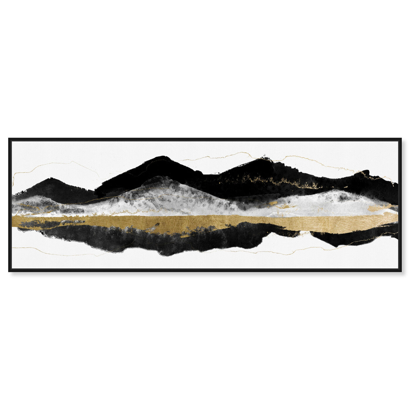 Front view of Noir et Gold Mountains featuring abstract and paint art.