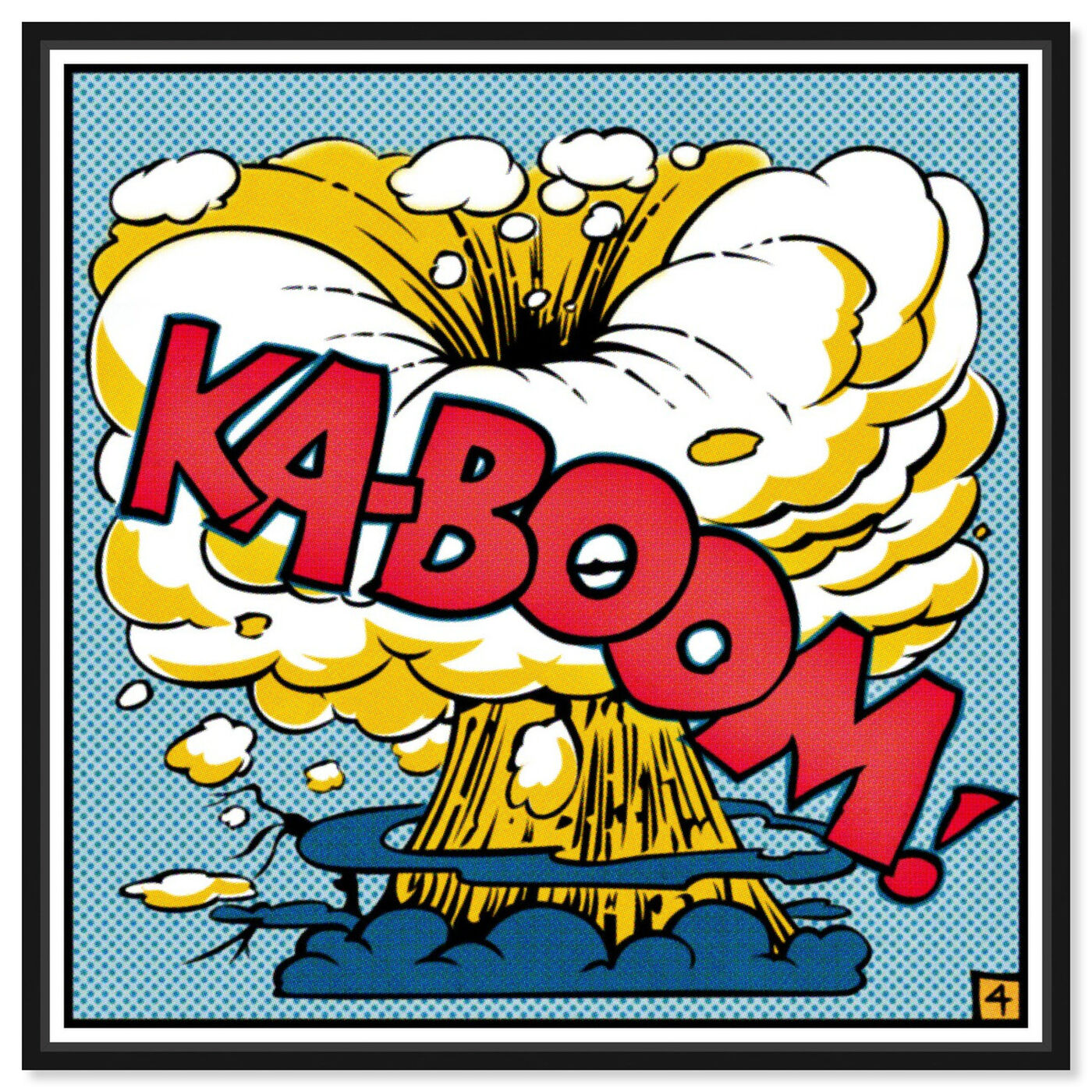Front view of Ka-Boom featuring advertising and comics art.