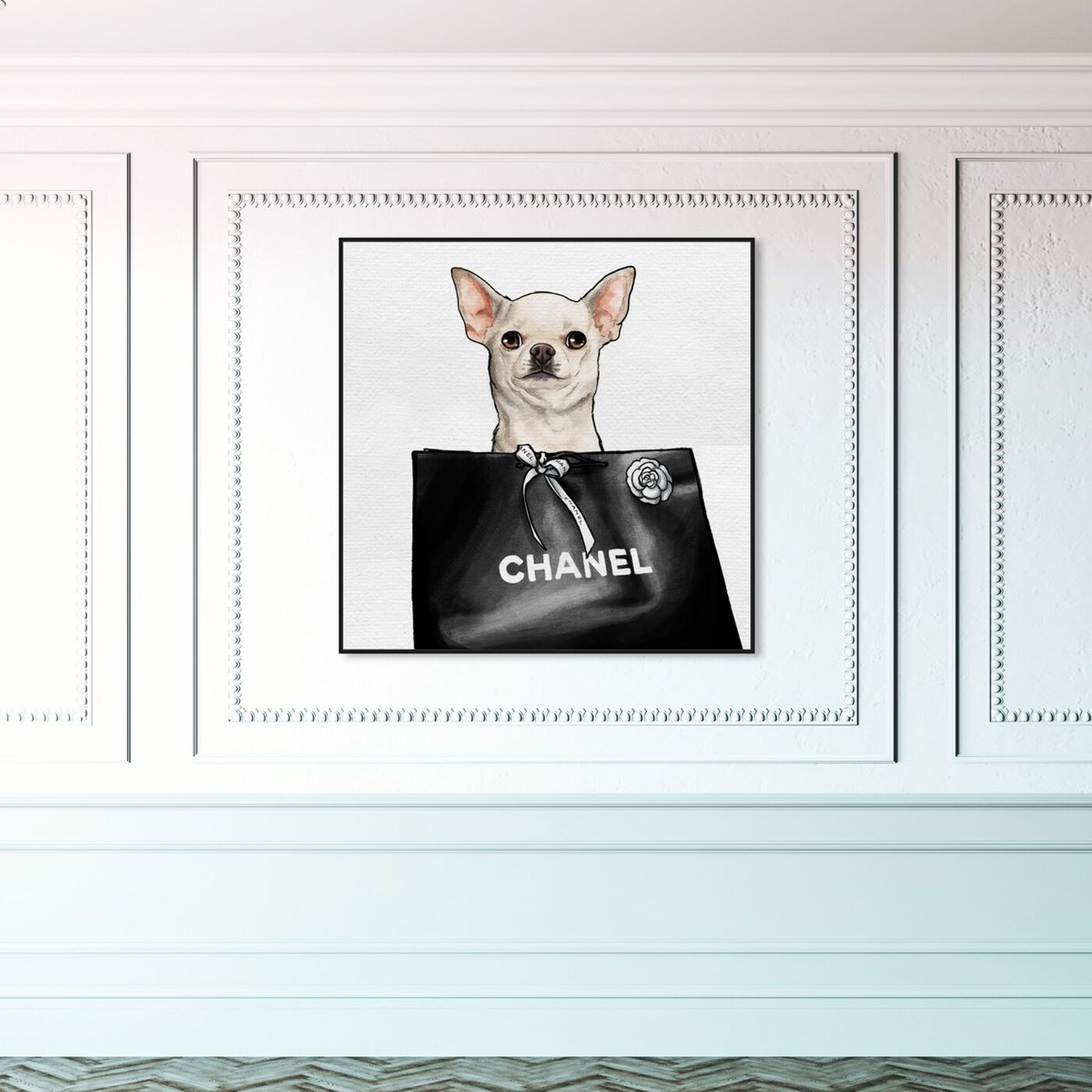 Hanging view of Chihuahua Glam featuring animals and dogs and puppies art.