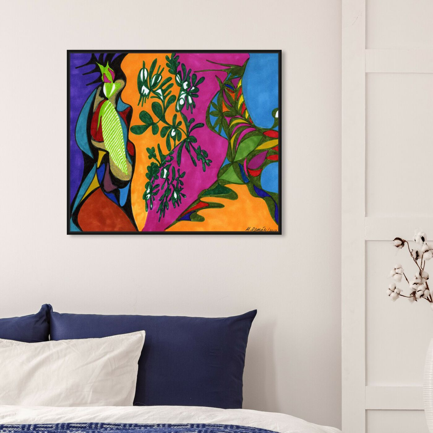 Hanging view of The Colony featuring abstract and paint art.