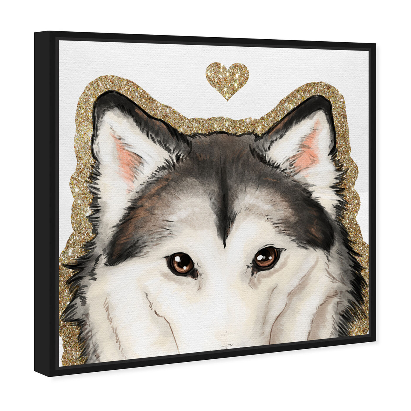 Angled view of Husky Eyes featuring fashion and glam and hearts art.