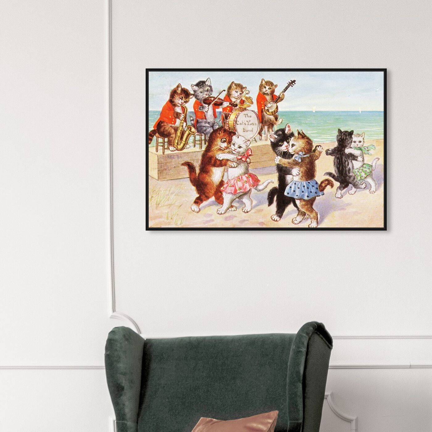 Hanging view of The Catiyarn Band featuring fantasy and sci-fi and fairy tales art.