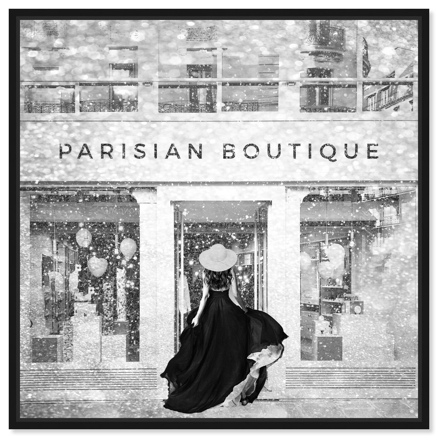Front view of Glam Parisian Boutique featuring fashion and glam and lifestyle art.