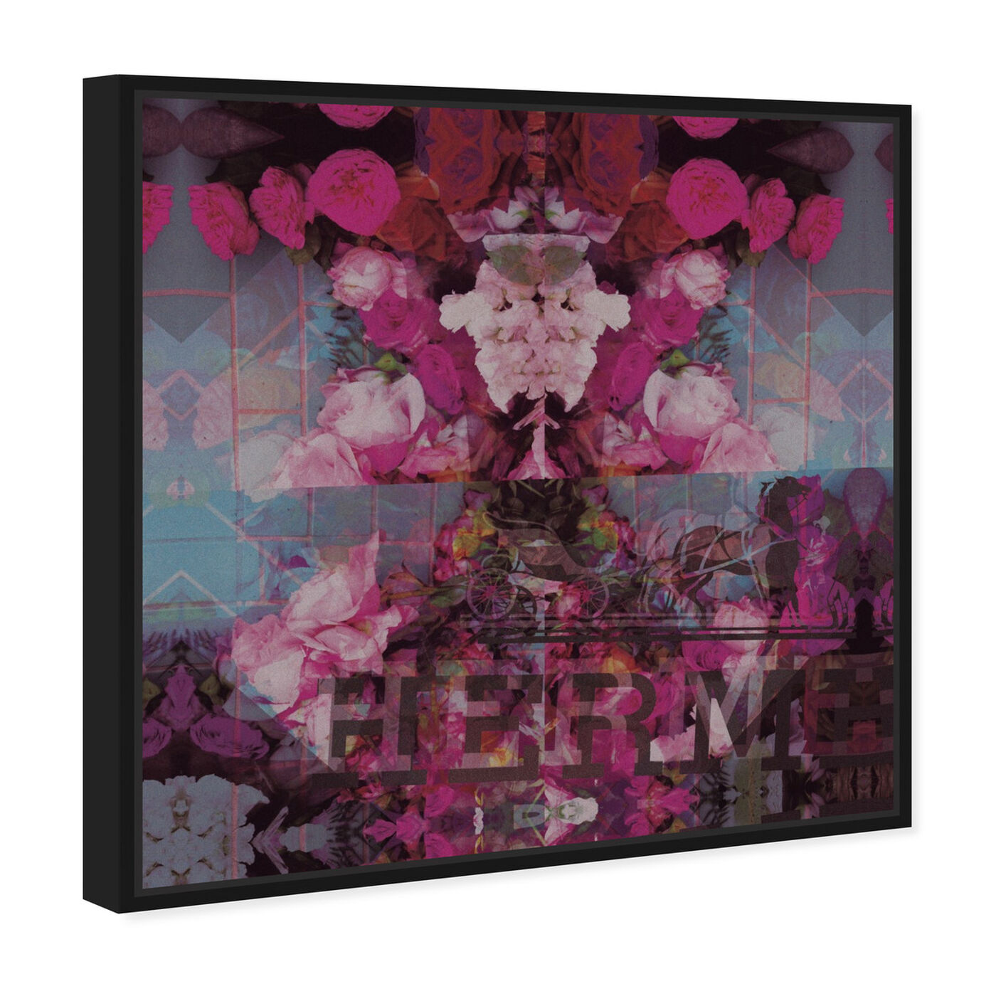 Angled view of Sublime Illusion featuring floral and botanical and florals art.