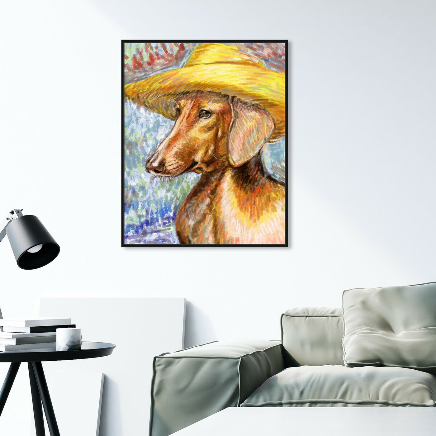 Hanging view of Van Dogh By Carson Kressley featuring animals and dogs and puppies art.