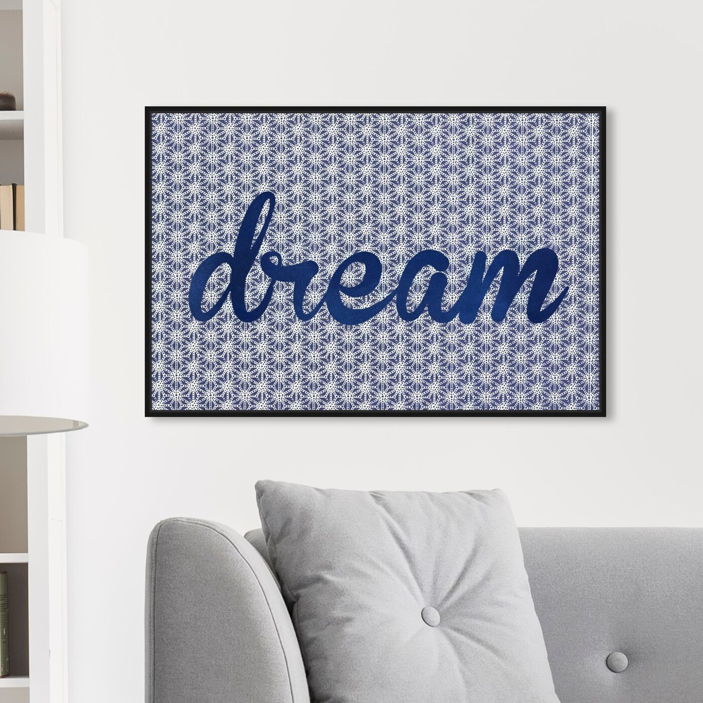 Hanging view of Dream Dream Dream featuring typography and quotes and motivational quotes and sayings art.