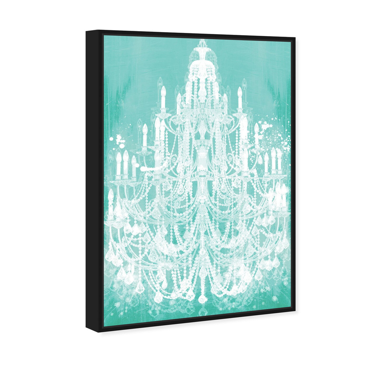 Angled view of Privee Diamonds Mint featuring fashion and glam and chandeliers art.
