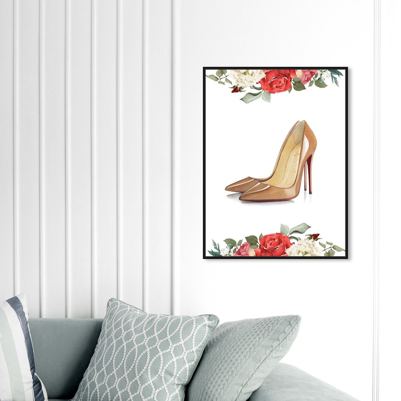 Hanging view of Doll Memories - Standalone Stilettos featuring fashion and glam and shoes art.