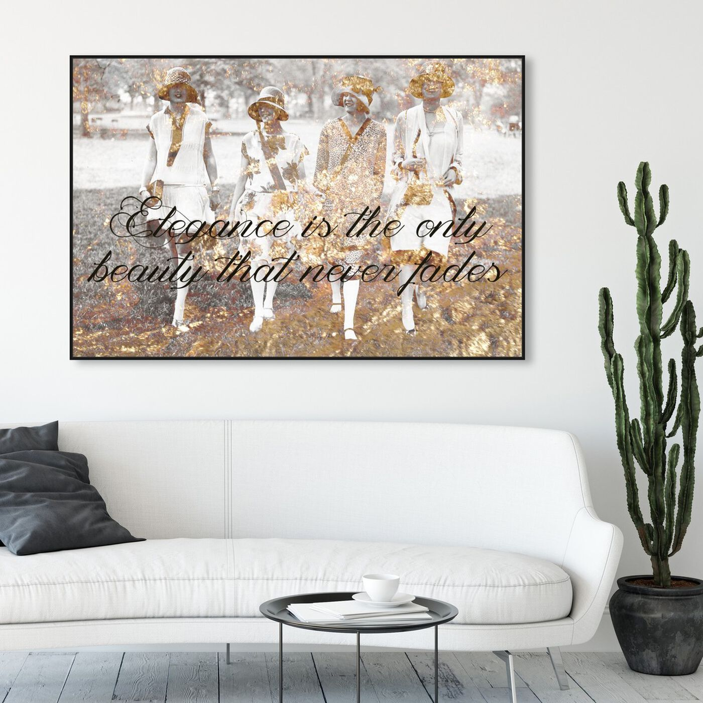 Hanging view of Elegance Never Fades featuring fashion and glam and fashion art.
