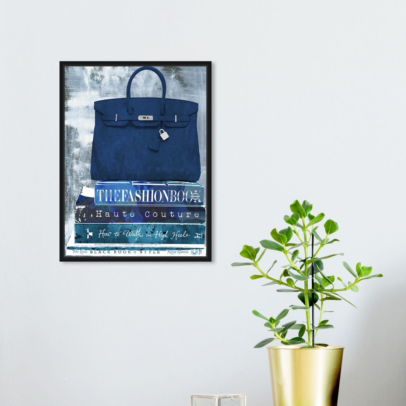 Hanging view of Fashion A to Z featuring fashion and glam and books art.