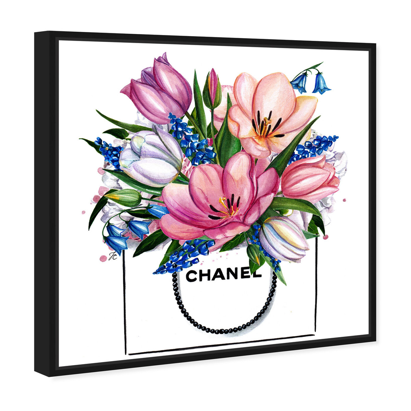 Angled view of Doll Memories - Tulip Shopping Bag featuring fashion and glam and fashion art.
