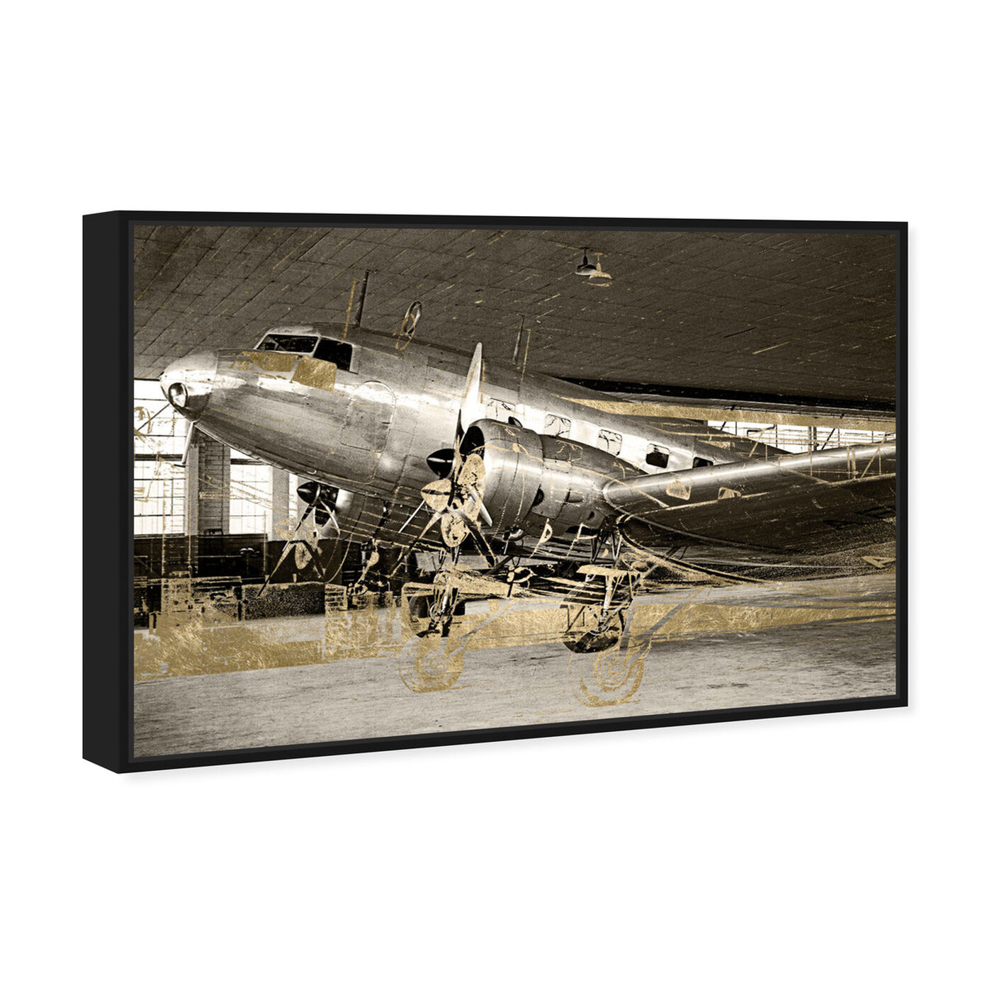 Angled view of Aviation featuring transportation and airplanes art.