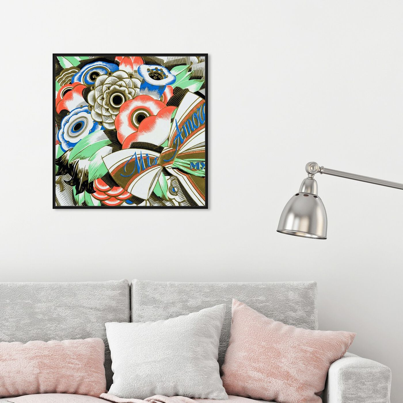 Hanging view of Amore 1920s featuring floral and botanical and florals art.