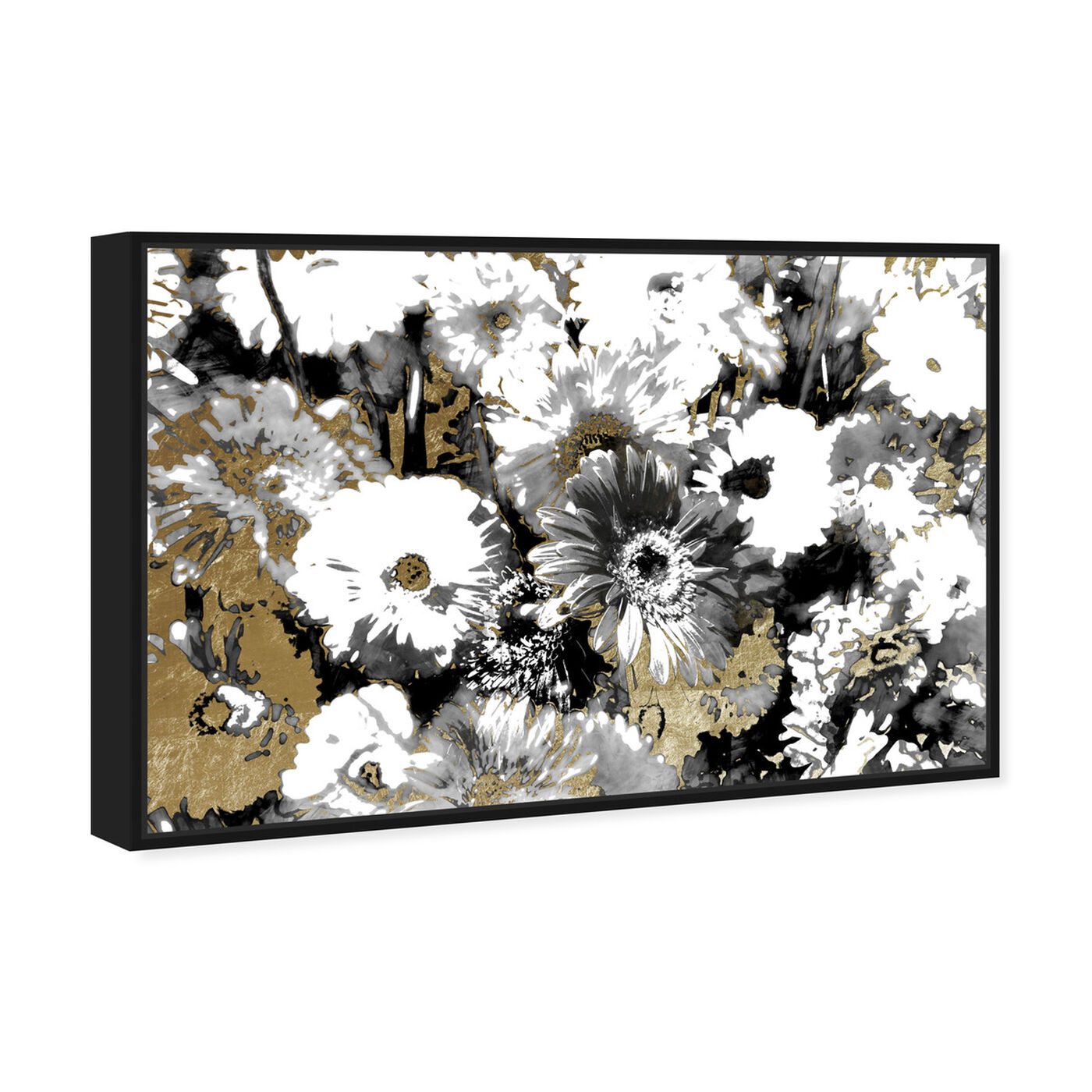 Angled view of Golden Floral Adore featuring floral and botanical and gardens art.