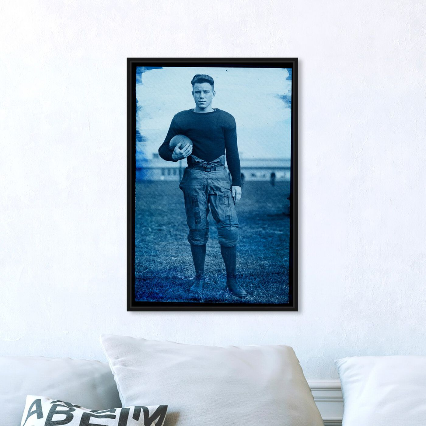 Hanging view of 1922 Navy Football Player featuring sports and teams and football art.
