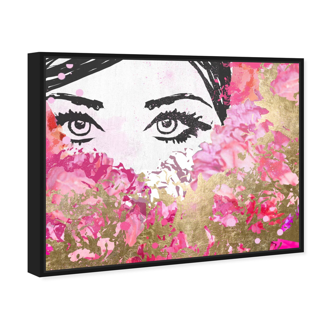 Angled view of Smell the Flowers featuring fashion and glam and portraits art.