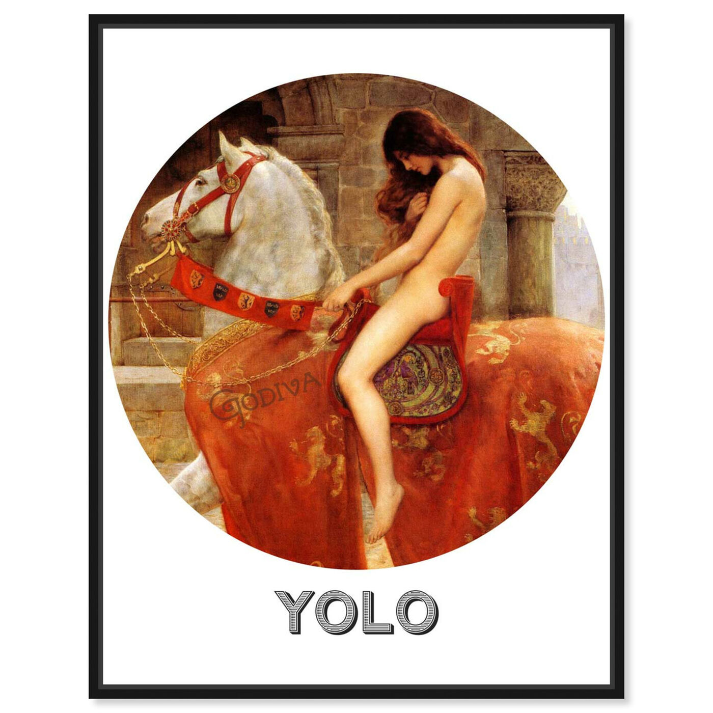 Front view of Yolo featuring animals and farm animals art.