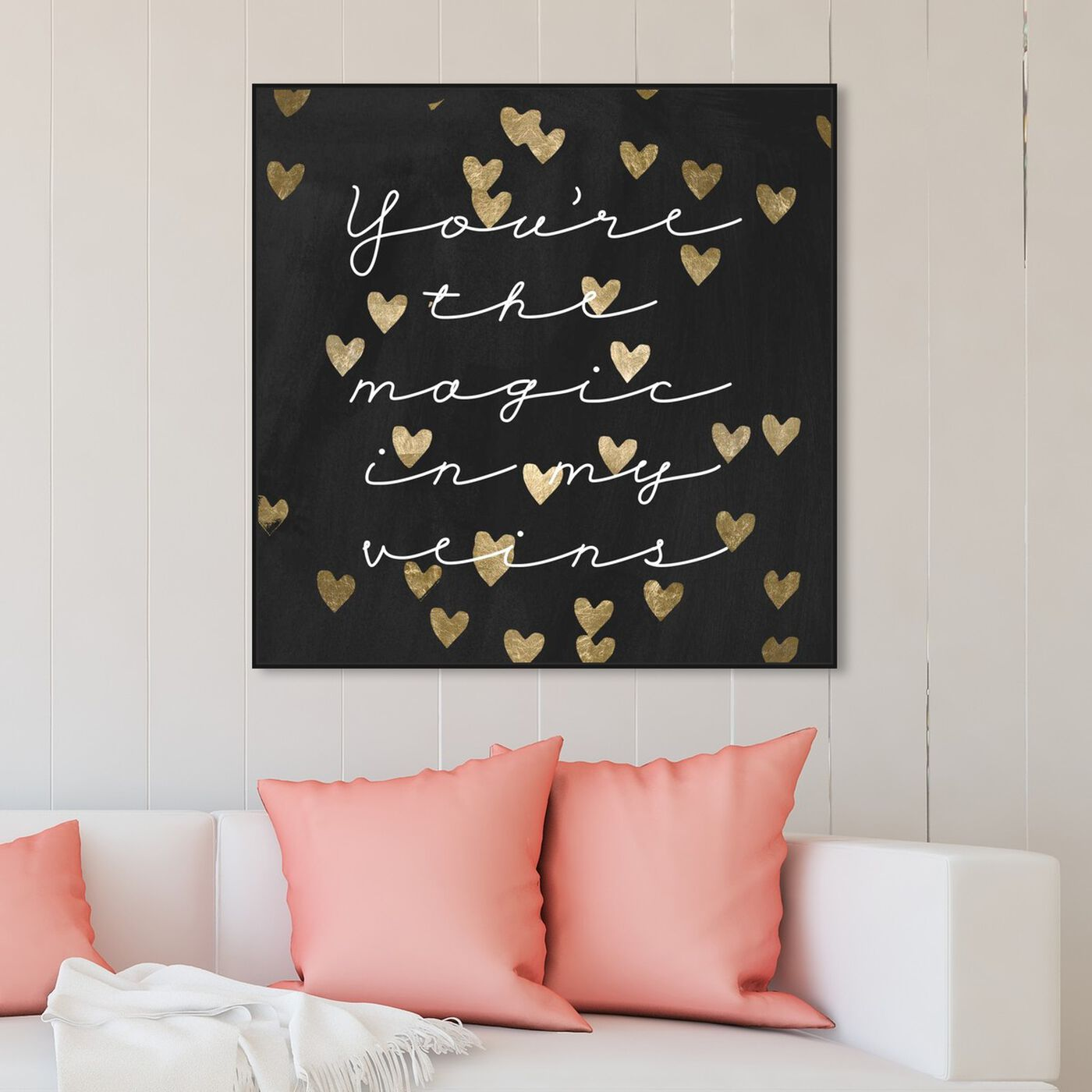 Hanging view of Magic in Me Night featuring typography and quotes and love quotes and sayings art.