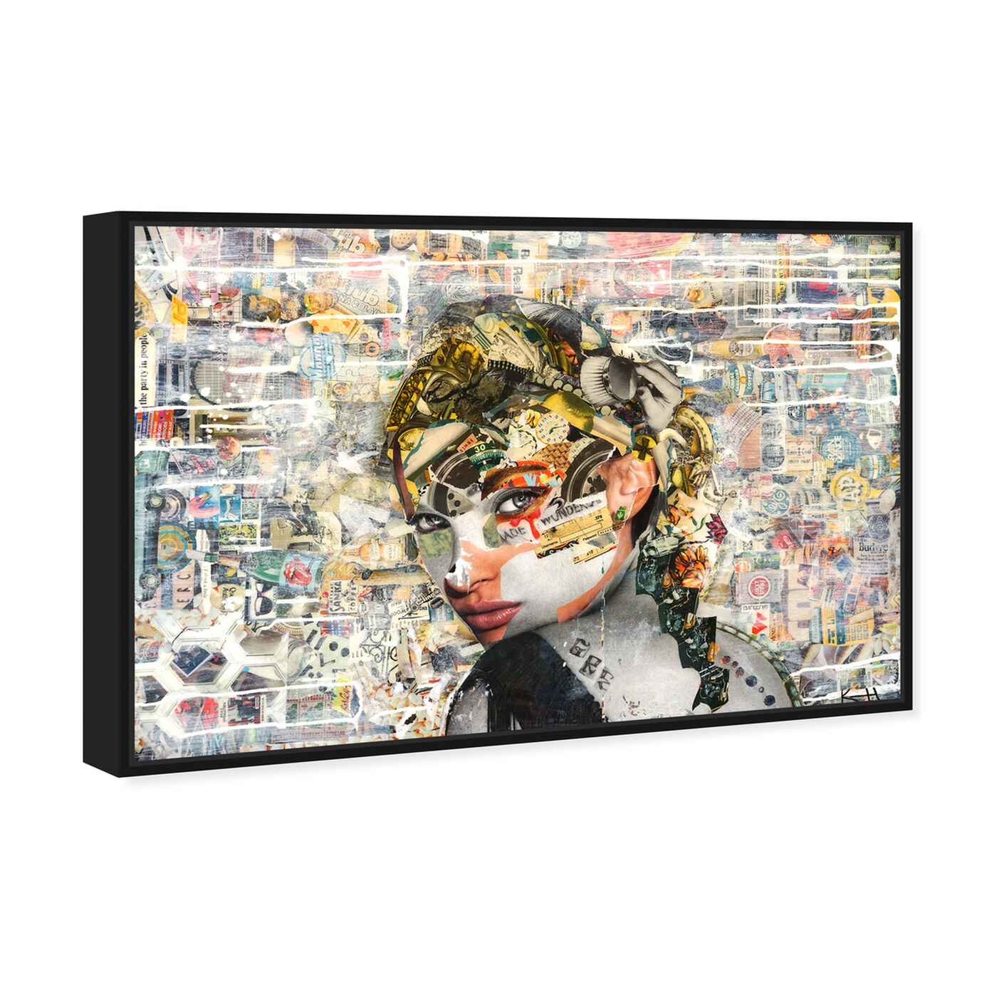 Angled view of Katy Hirschfeld - Eyes For You featuring fashion and glam and portraits art.
