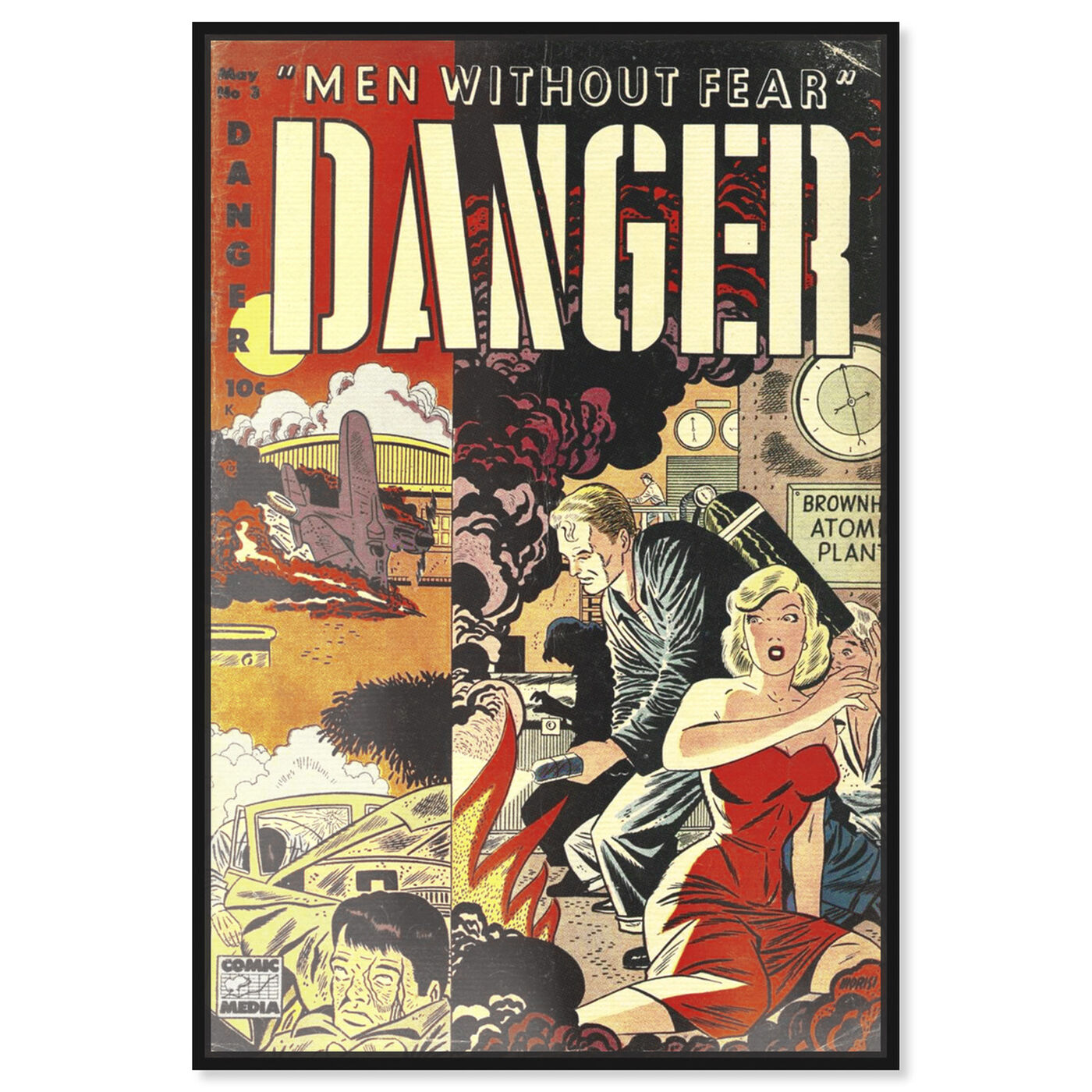 Front view of Men Without Fear featuring advertising and comics art.