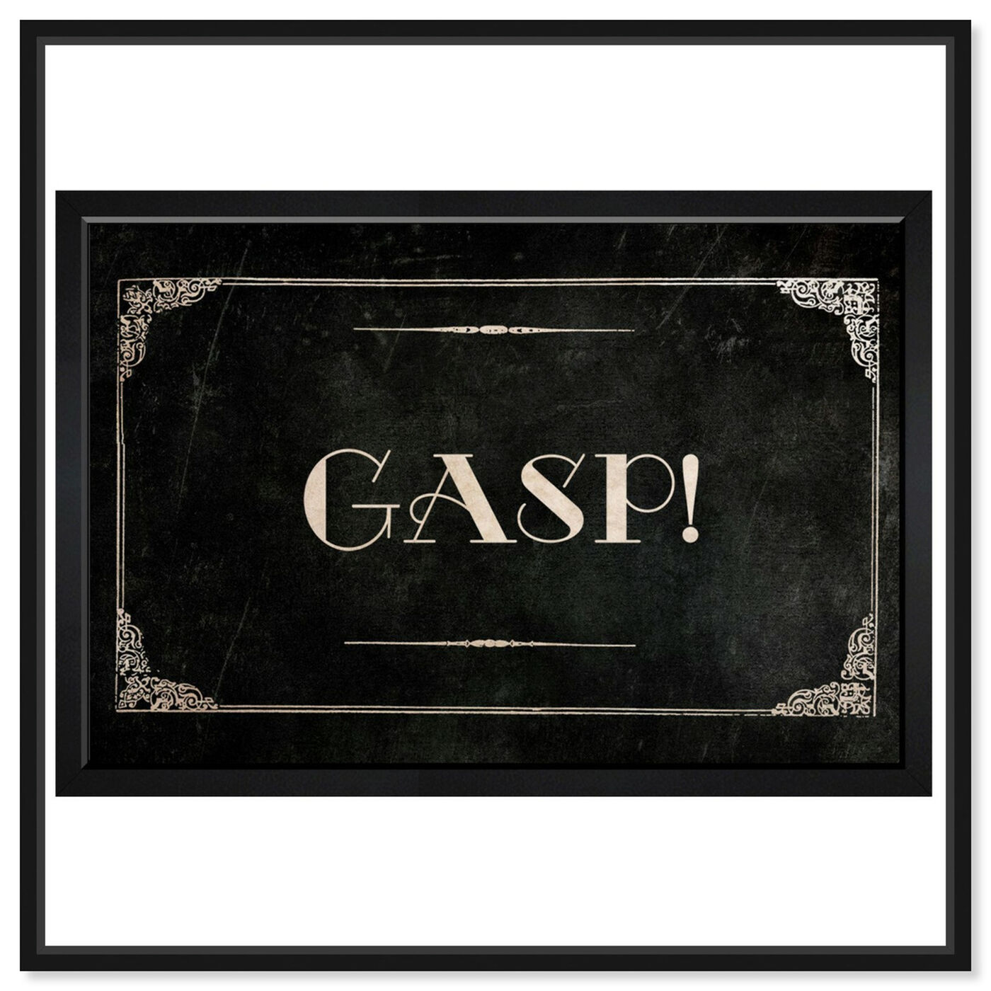 Front view of Gasp featuring typography and quotes and quotes and sayings art.