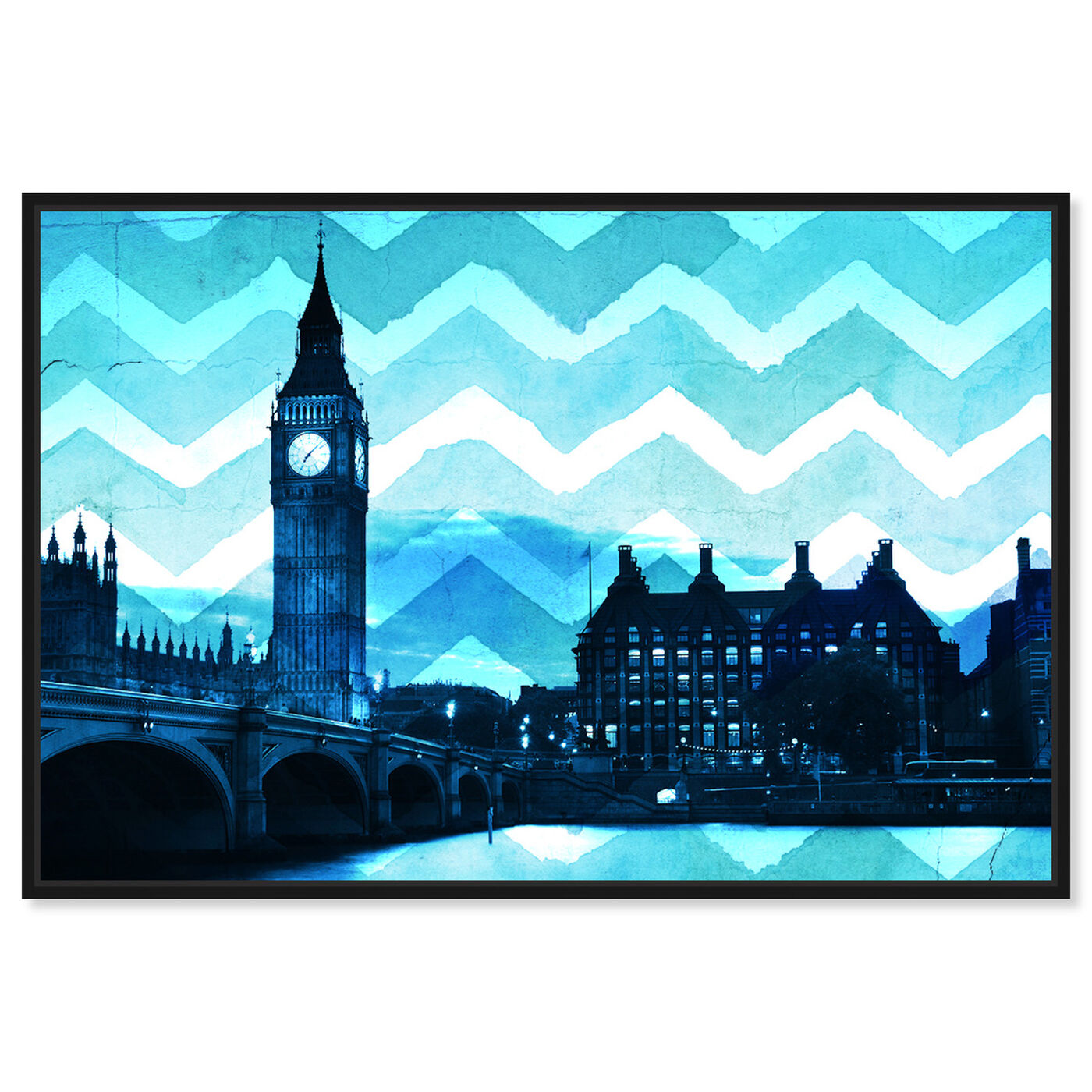 Front view of London Chevron featuring cities and skylines and european cities art.