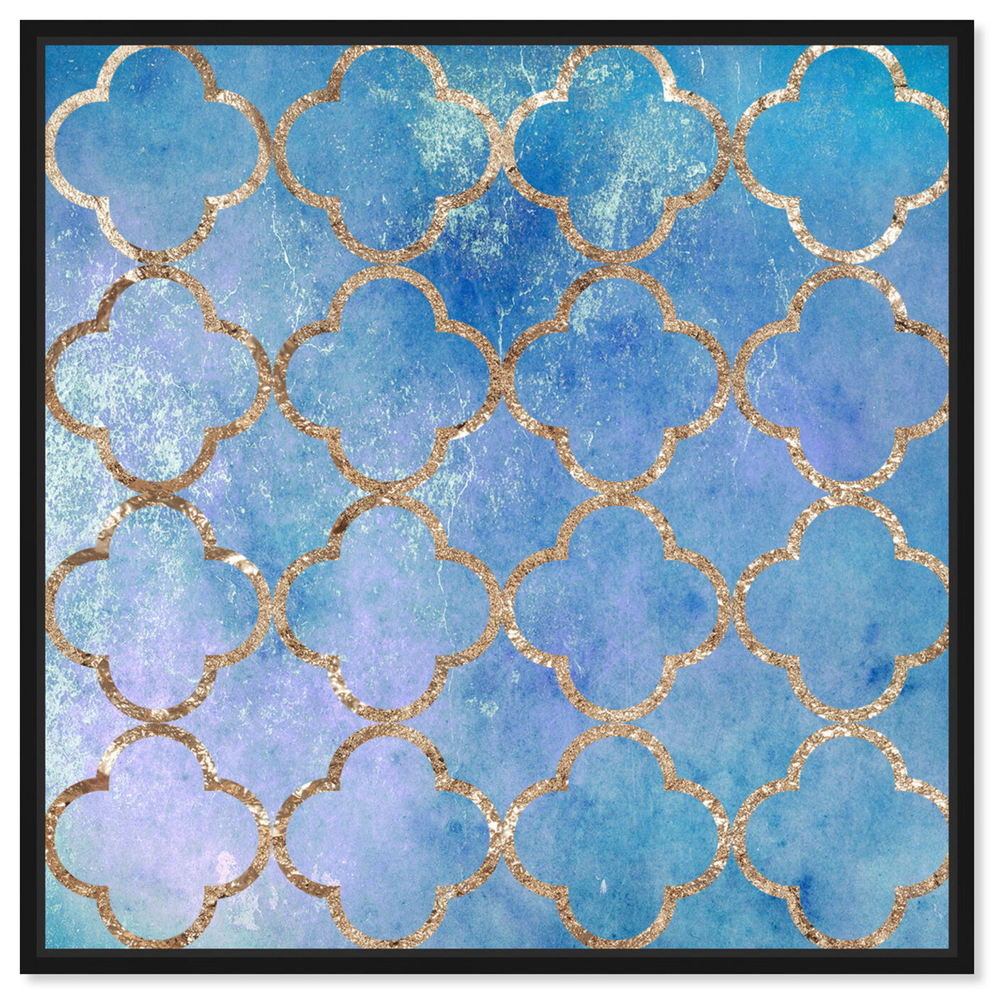 Front view of Volare Blu featuring abstract and patterns art.