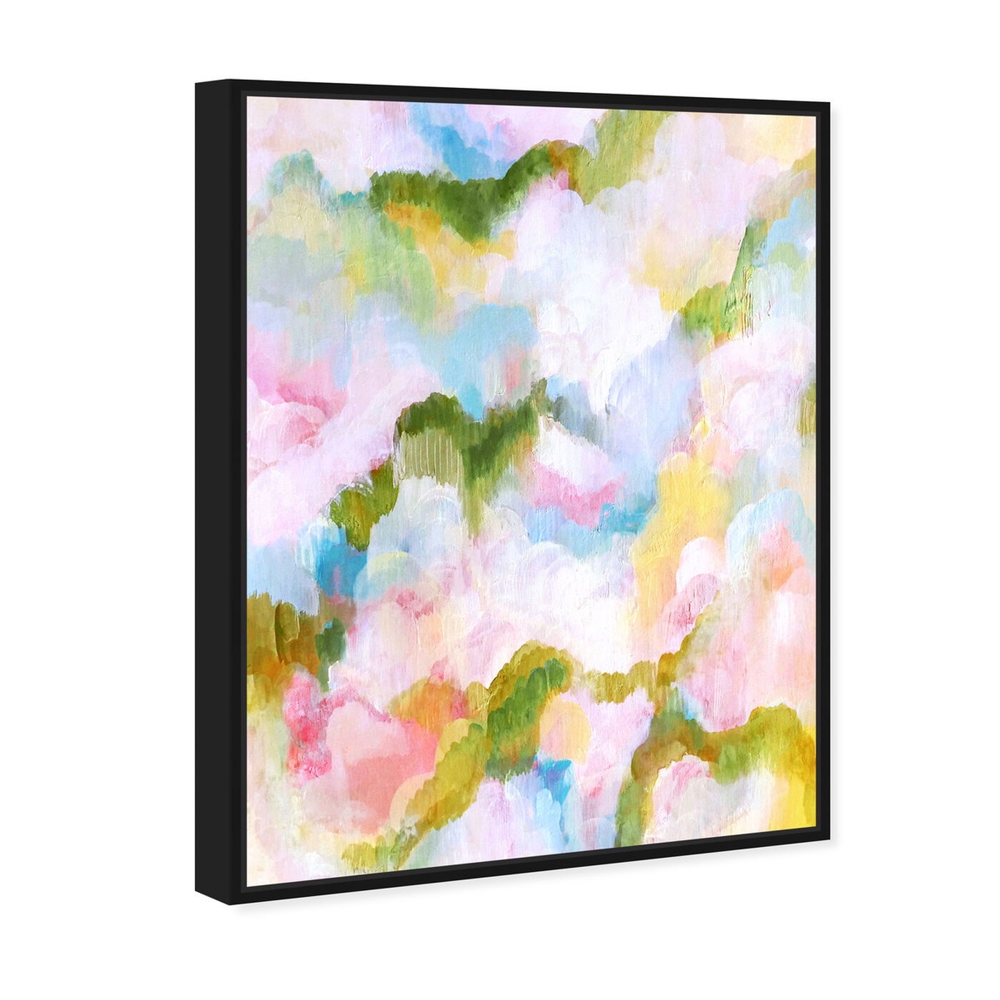 Angled view of Garden of Hope V featuring abstract and paint art.