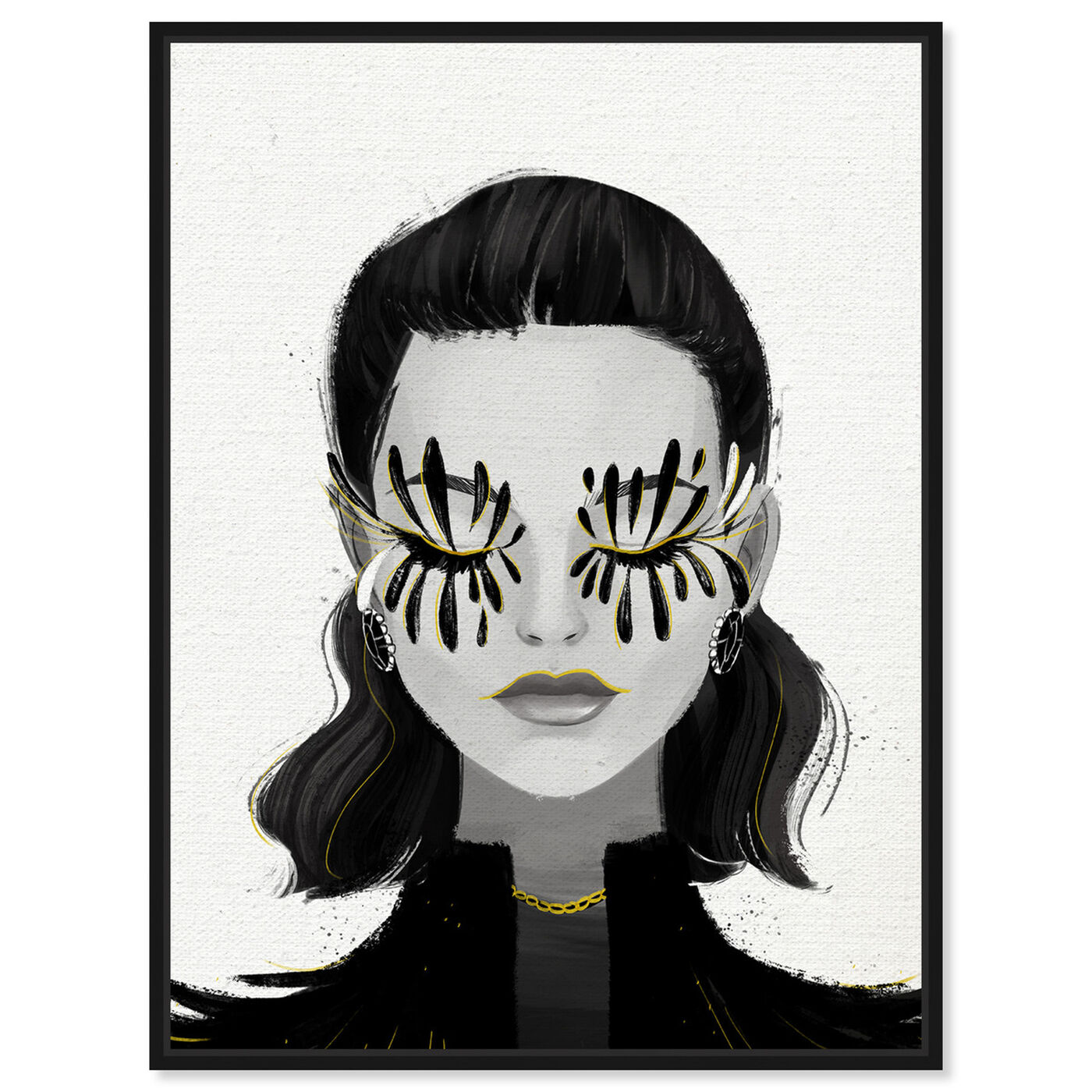 Front view of Eyelash Petals Girls featuring fashion and glam and portraits art.