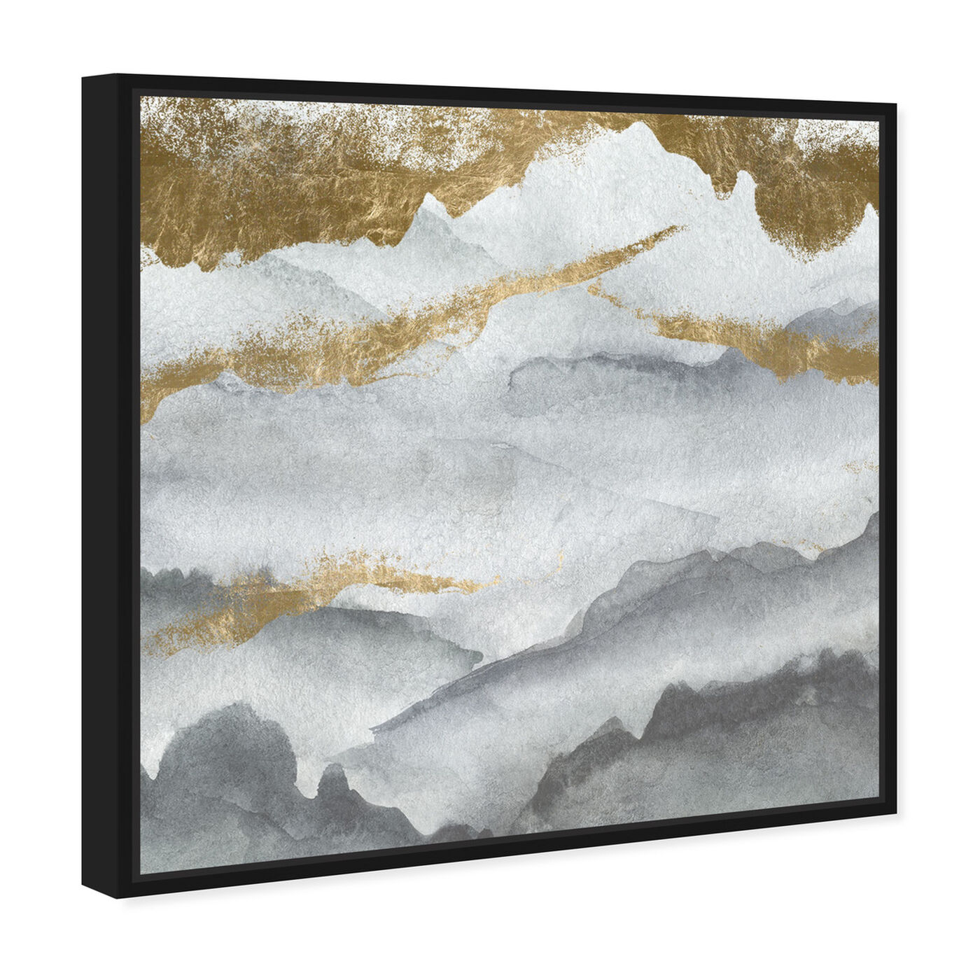 Angled view of Tibet Mountains featuring abstract and watercolor art.