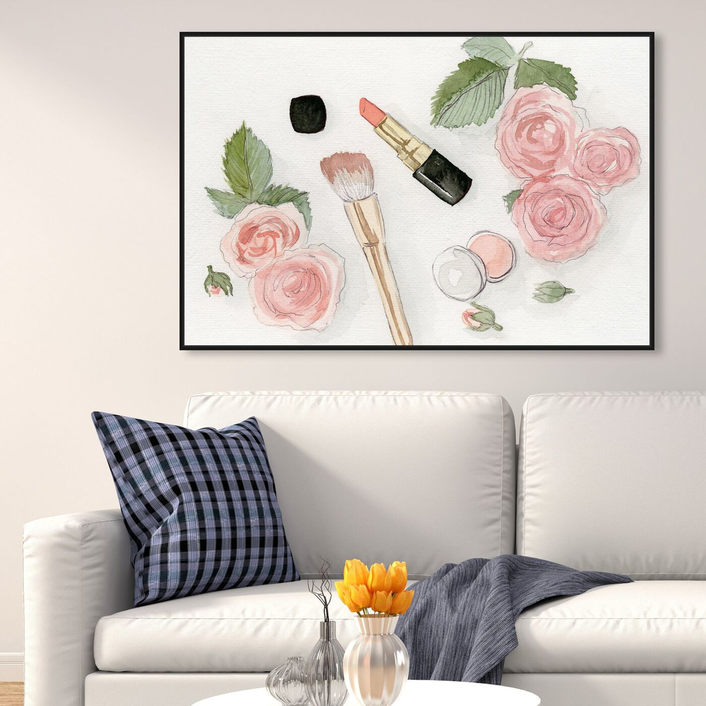 Hanging view of Blush Dream featuring floral and botanical and florals art.