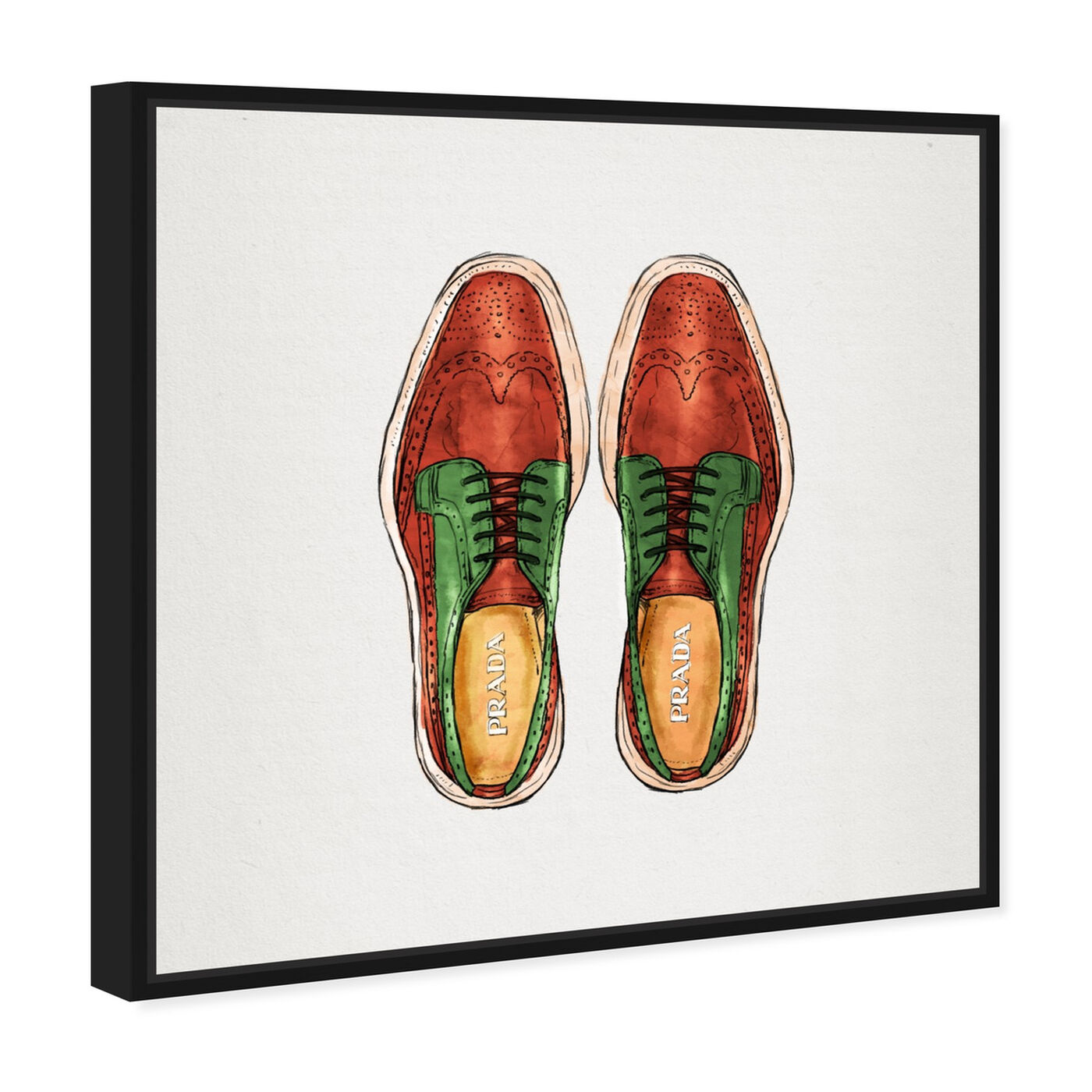 Angled view of His Wingtips featuring fashion and glam and shoes art.