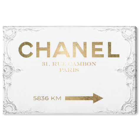 Couture Road Sign Rococo Gold