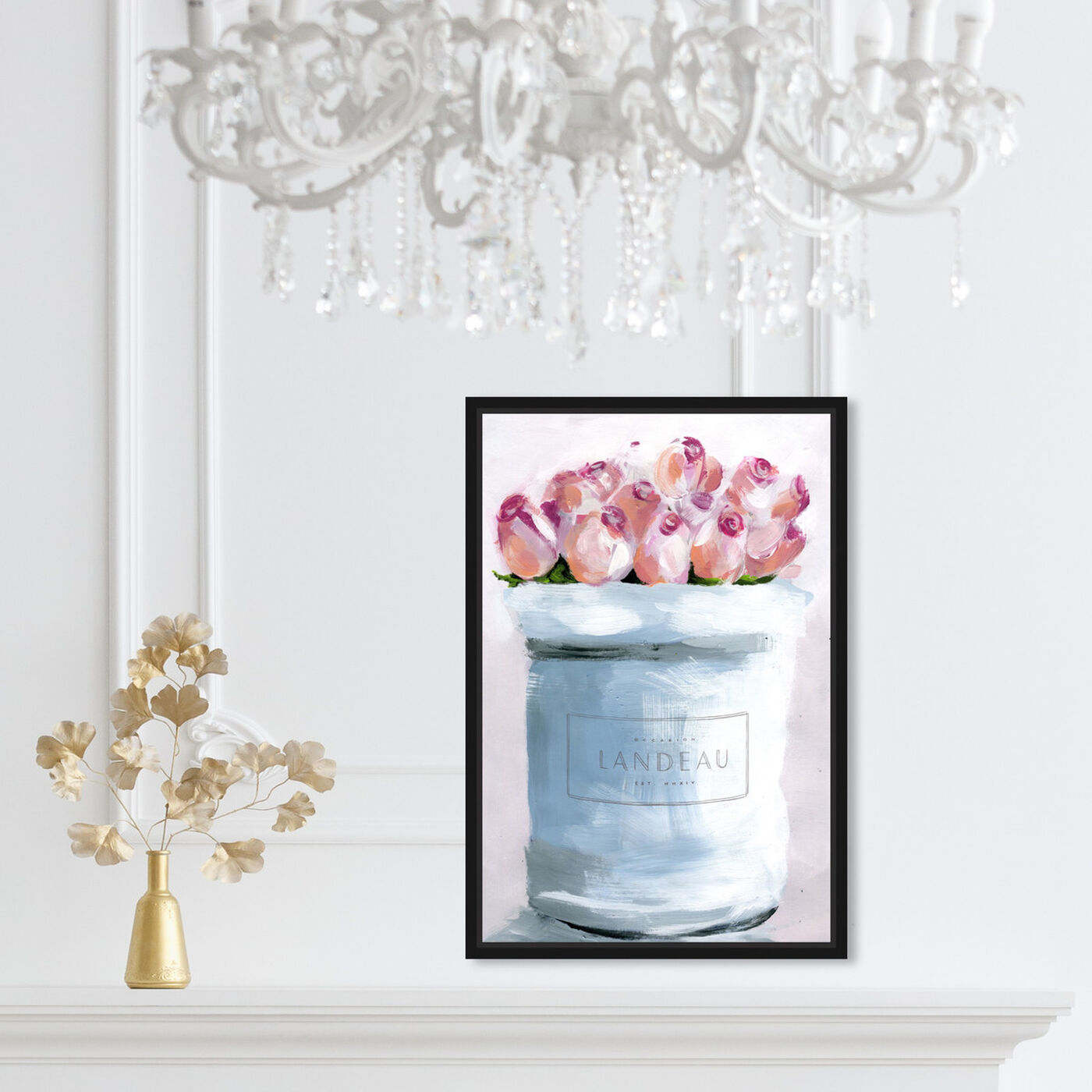 Hanging view of The Loveliest Flowers I featuring floral and botanical and florals art.
