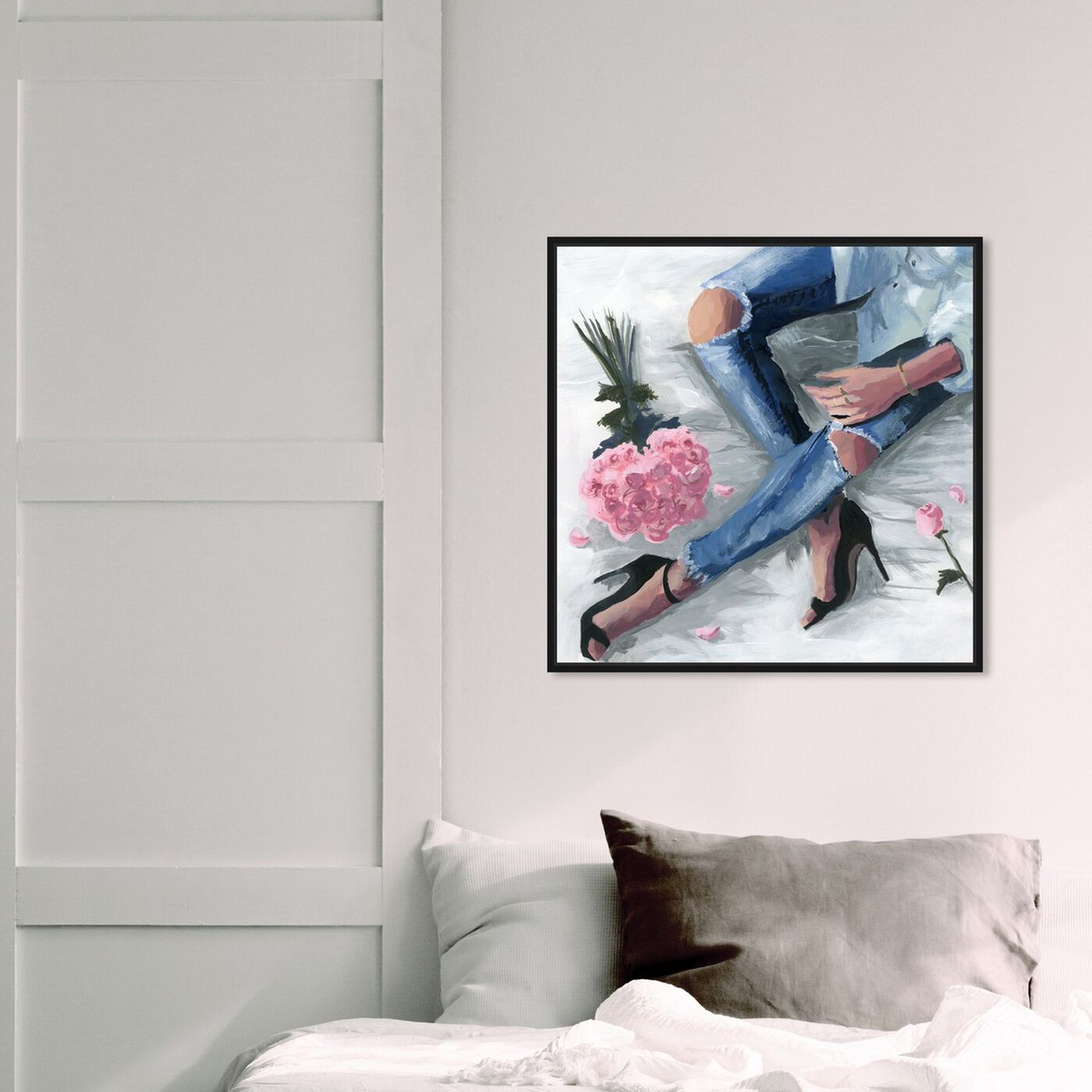 Hanging view of Romantic Jeans featuring fashion and glam and outfits art.