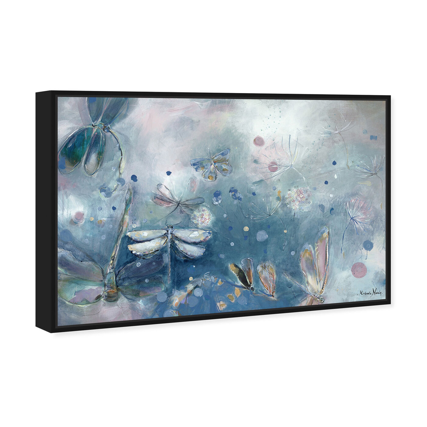 Angled view of Michaela Nessim - A dragonfly dream featuring animals and insects art.