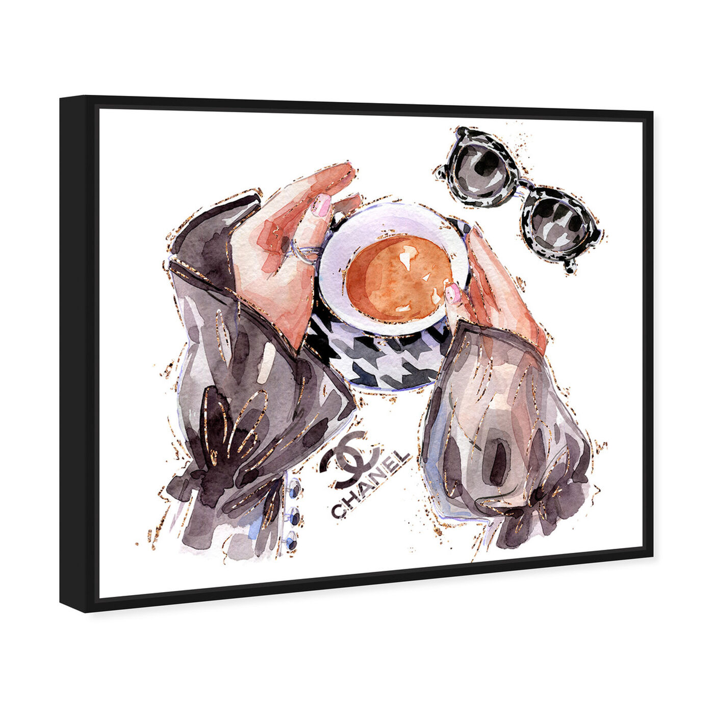 Angled view of Silky Fashion and Coffee featuring fashion and glam and lifestyle art.