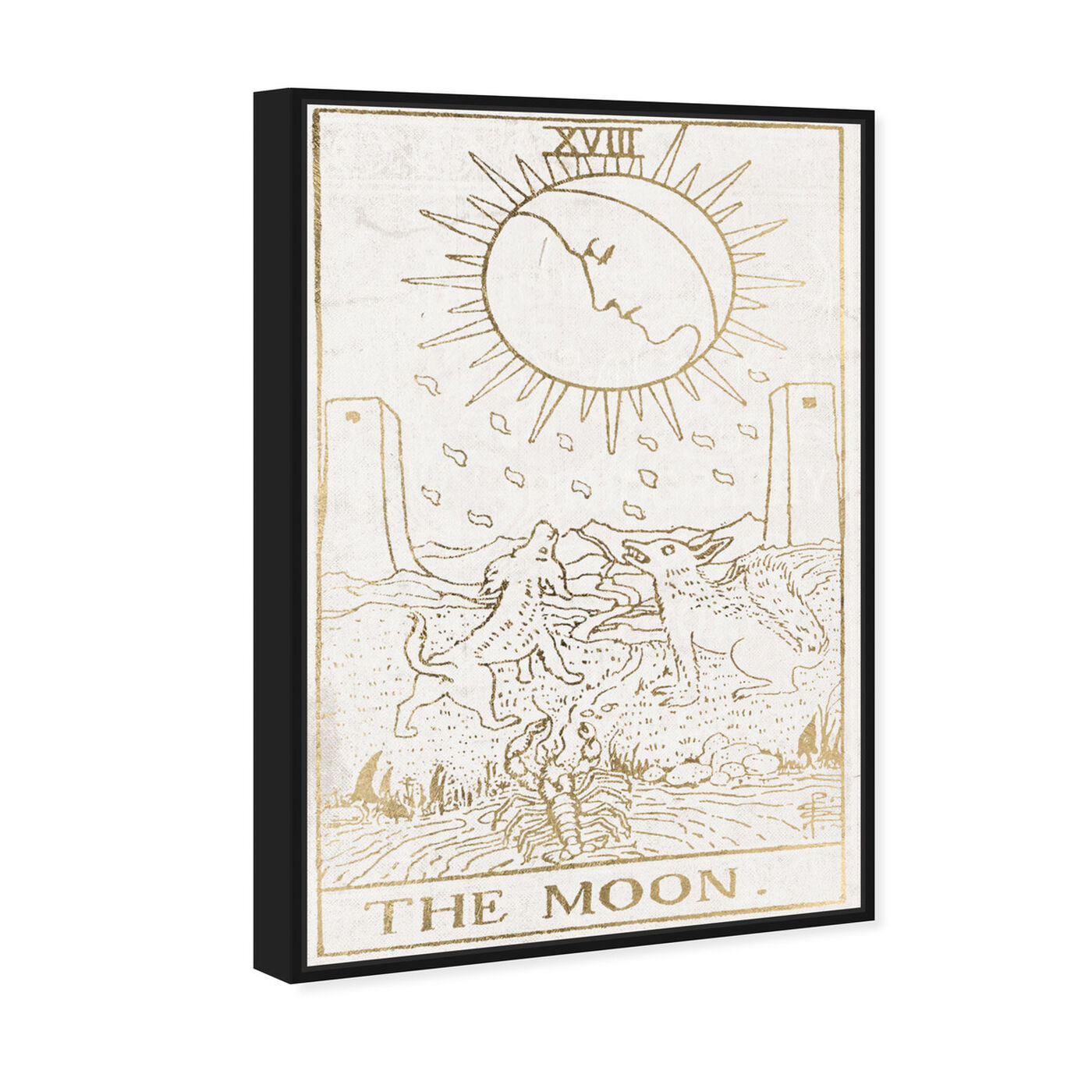 Angled view of The Moon Tarot Luxe featuring spiritual and religious and astrology art.