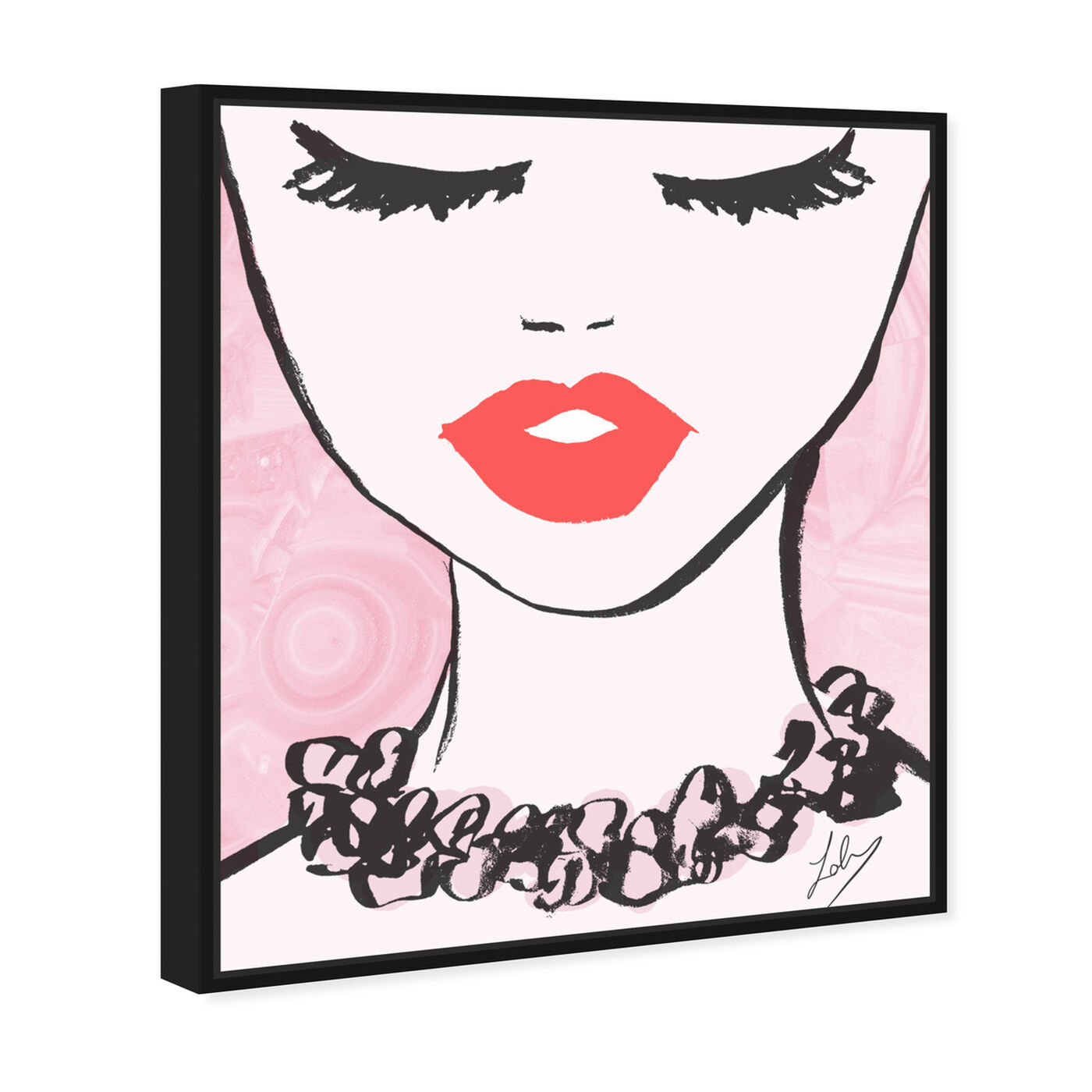 Angled view of Classy Lips featuring fashion and glam and lips art.