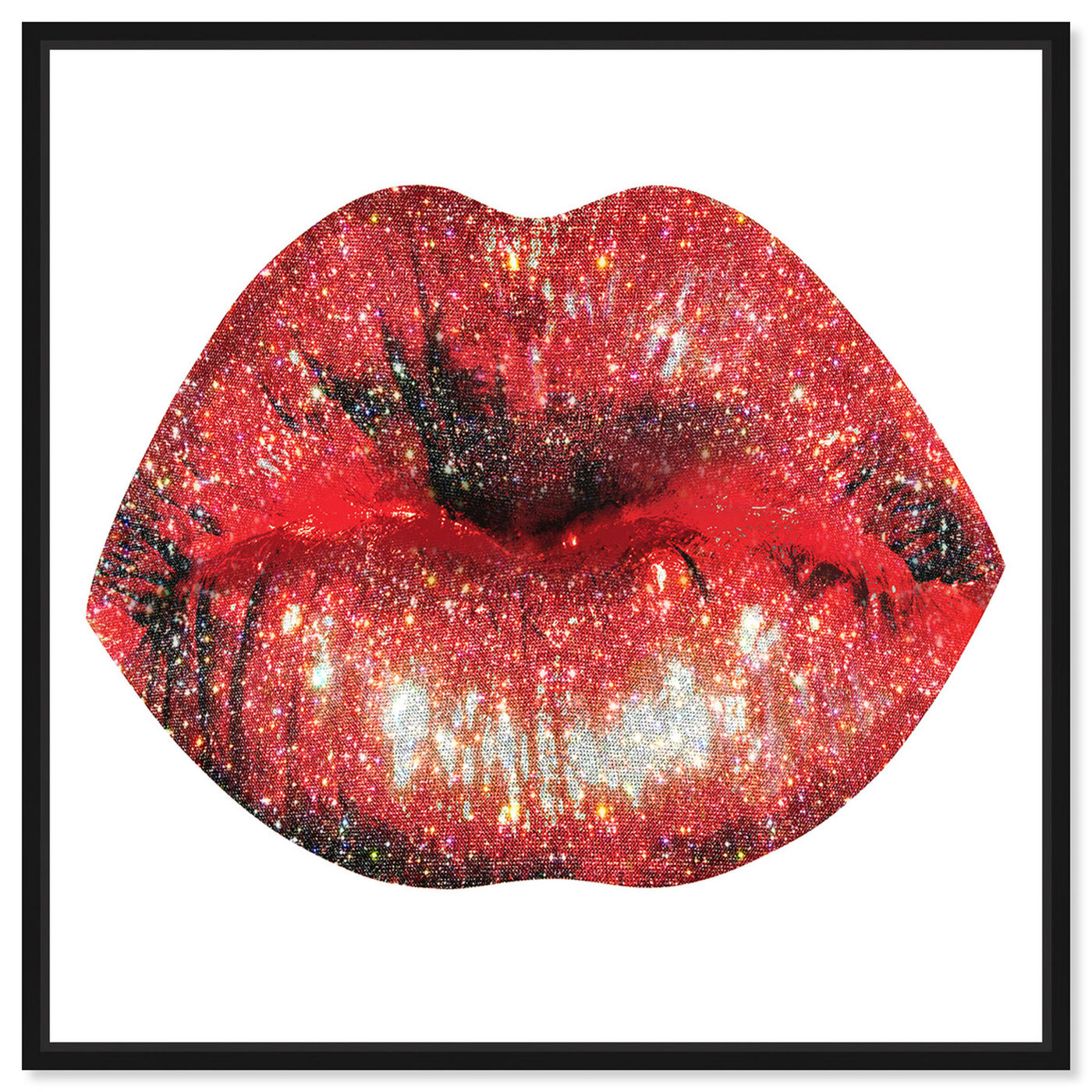 Front view of Lips and Rhinestones IV featuring fashion and glam and lips art.